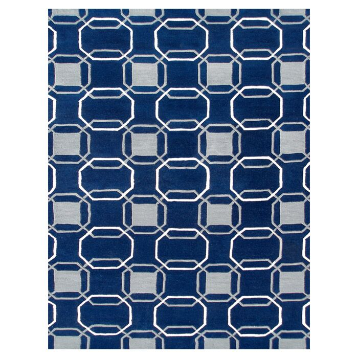 Immingham Hand-Tufted Blue/Gray Area Rug Rug Size: 5' x 8'