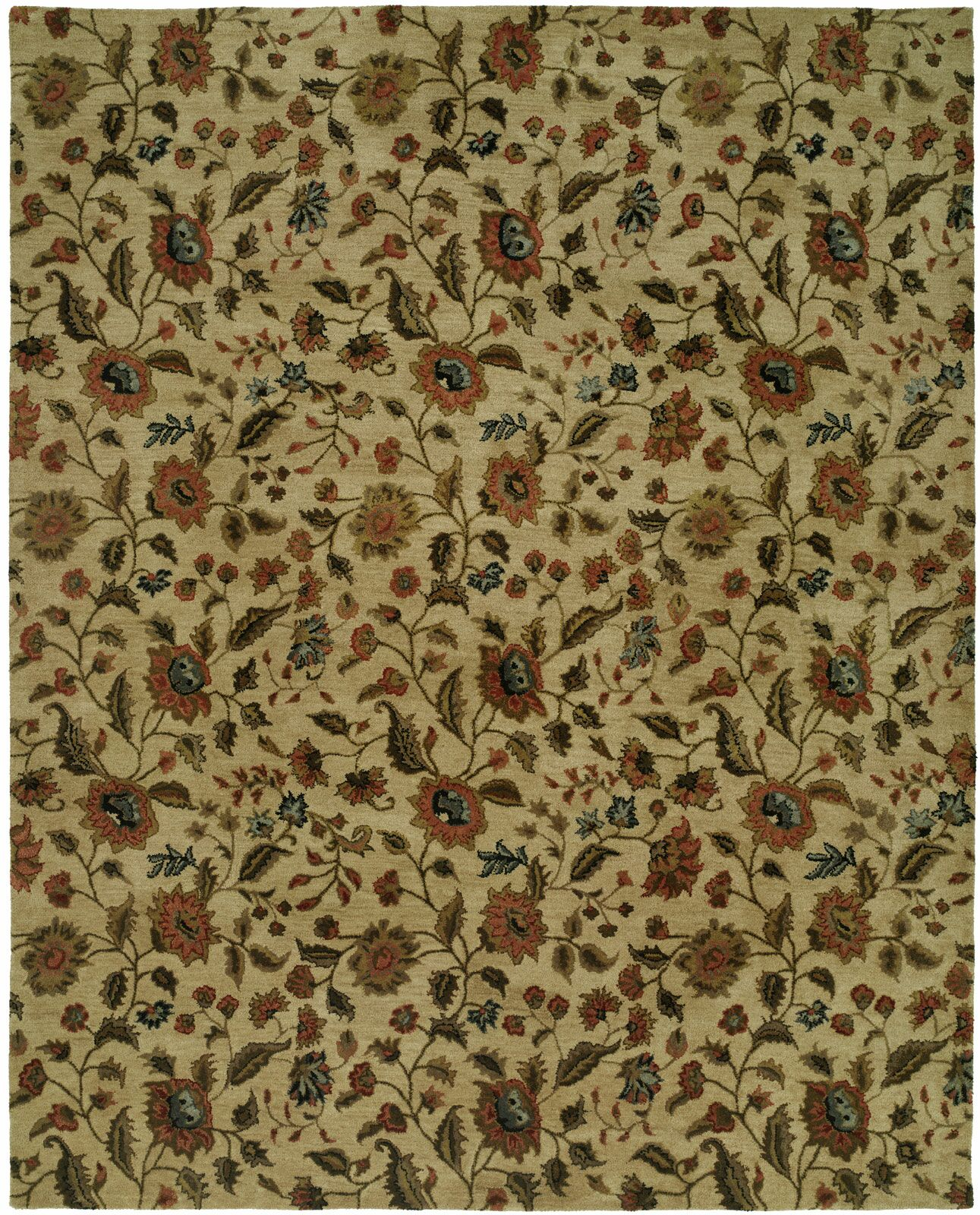 Hand-Tufted Beige Area Rug Rug Size: 6' x 9'