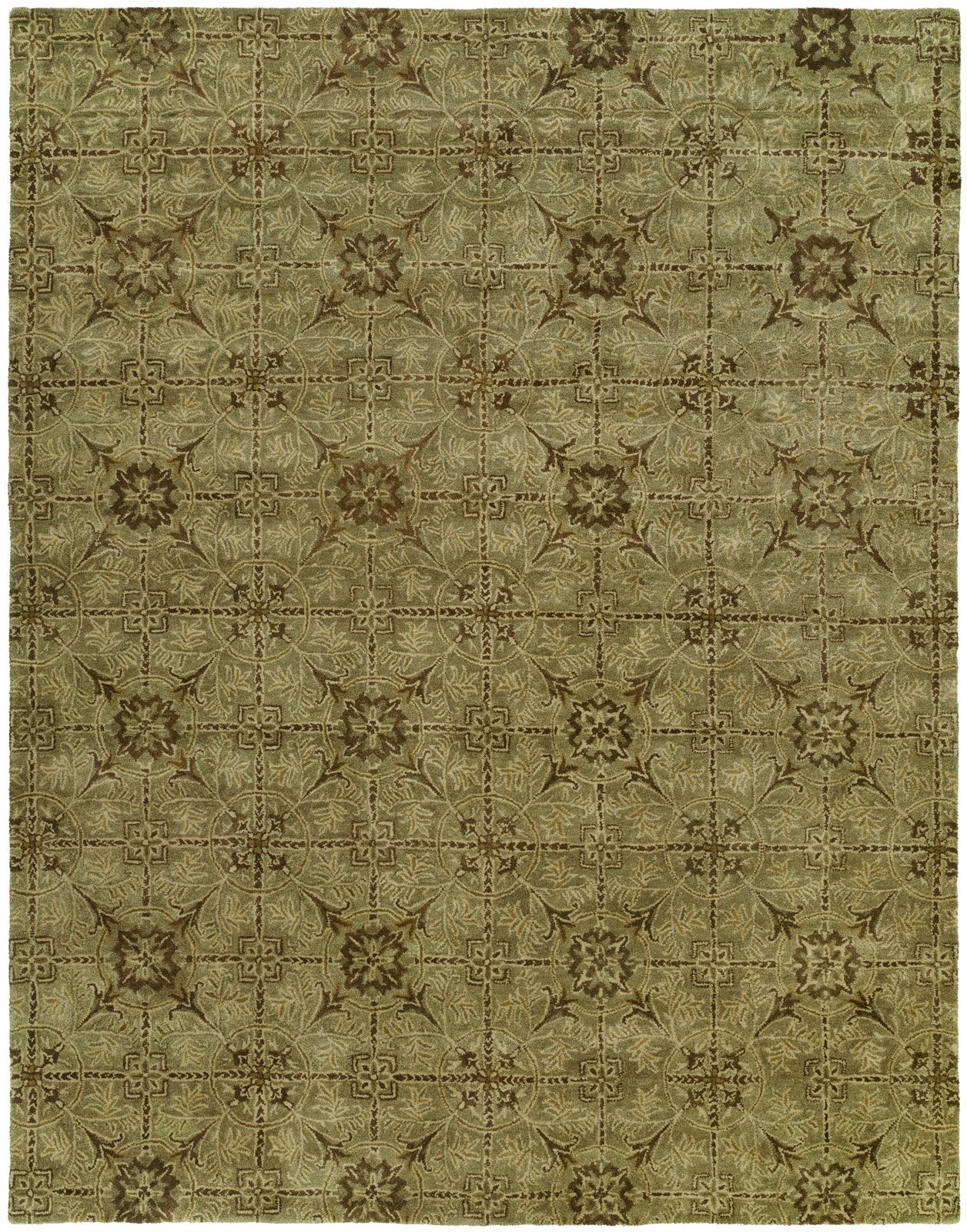 Hand-Tufted Green Area Rug Rug Size: Runner 2'6