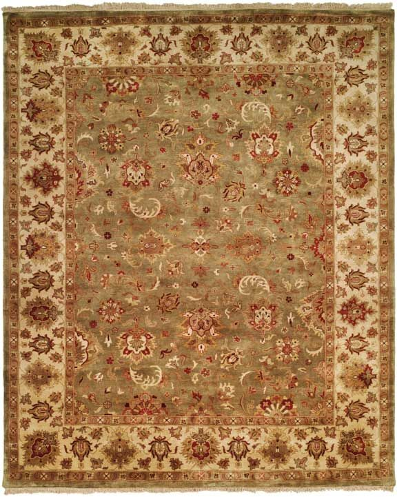 Nelson Hand-Woven Green/Ivory Area Rug Rug Size: Rectangle 9' x 12'