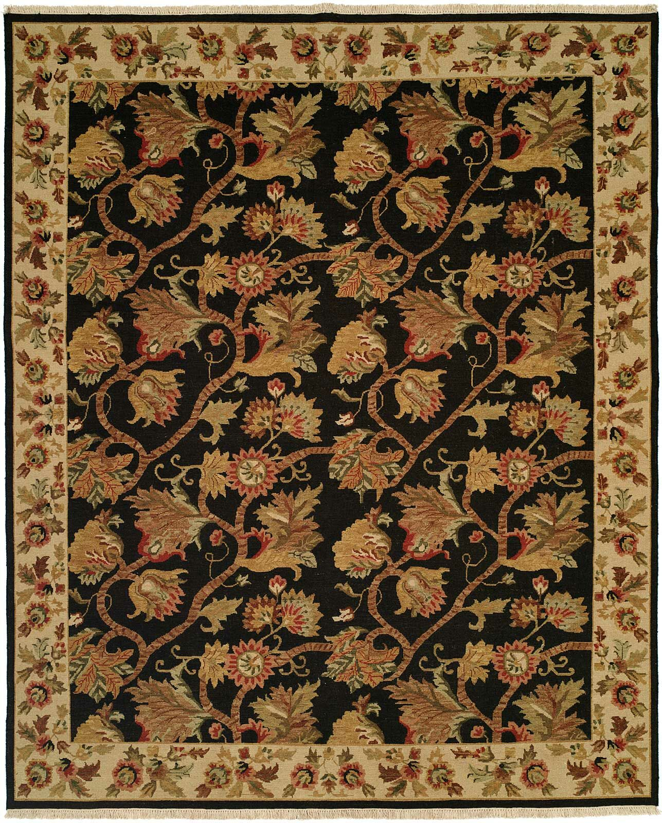 Acharya Hand-Woven Black/Brown Area Rug Rug Size: Runner 2'6