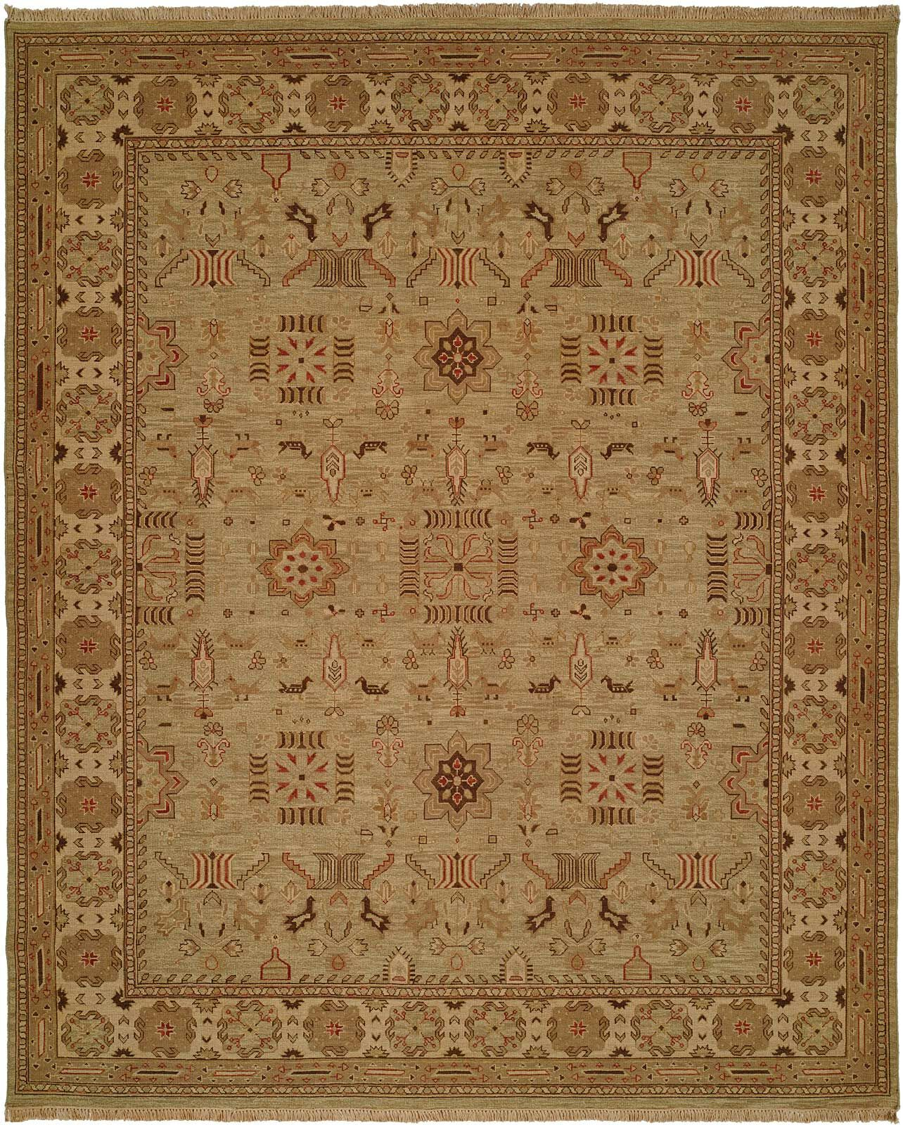 Agrawal Hand-Woven Beige Area Rug Rug Size: Round 8'