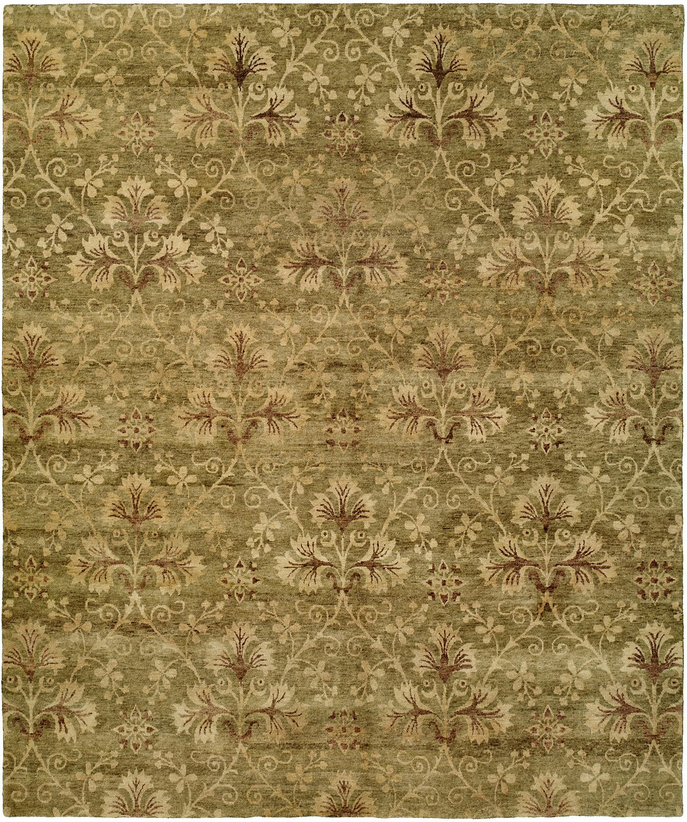 Anthony Hand-Woven Green Area Rug Rug Size: 6' x 9'
