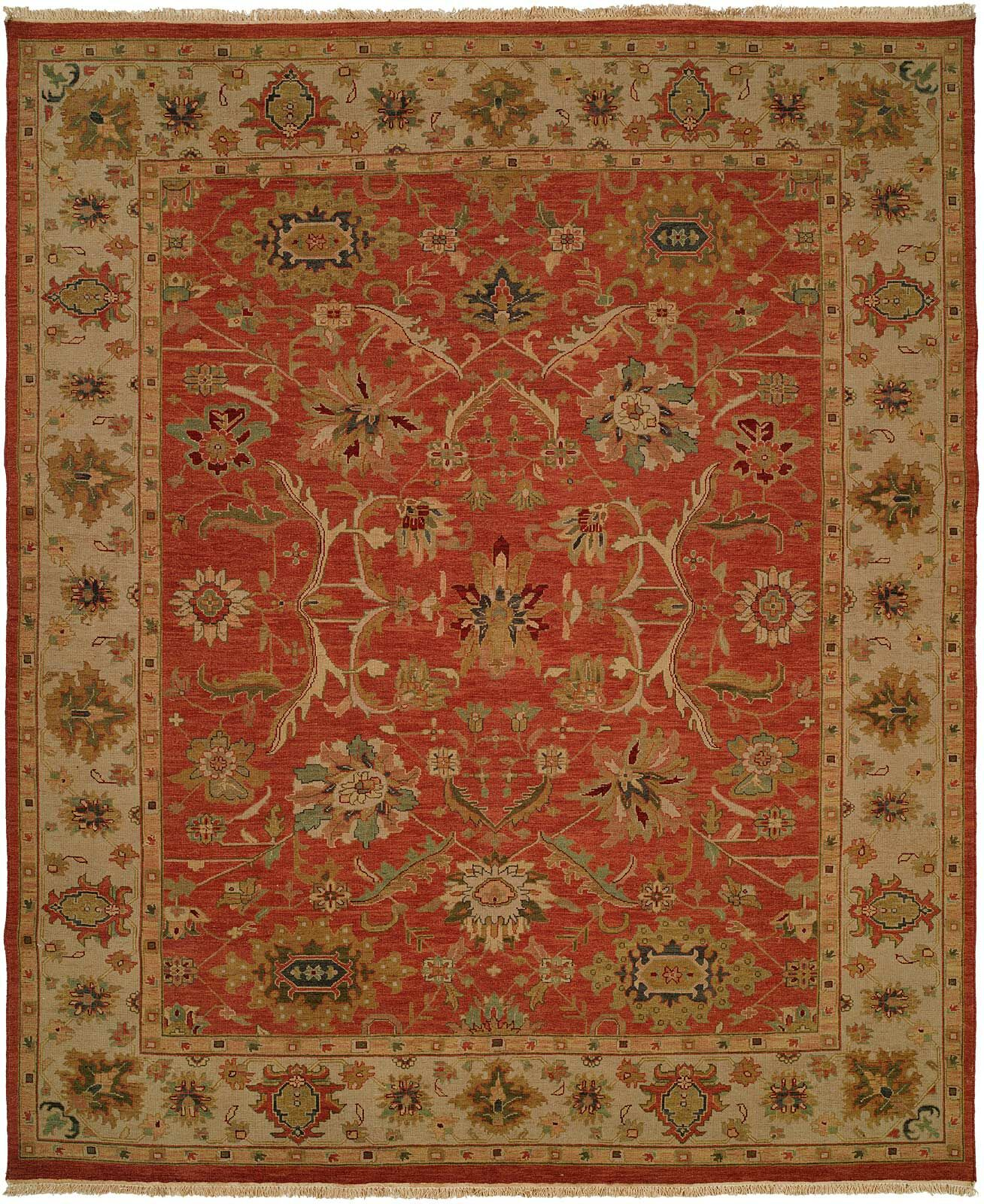 Arora Hand-Woven Red/Beige Area Rug Rug Size: Rectangle 6' x 9'