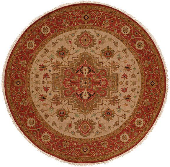Babu Hand-Woven Brown/Beige Area Rug Rug Size: Round 6'