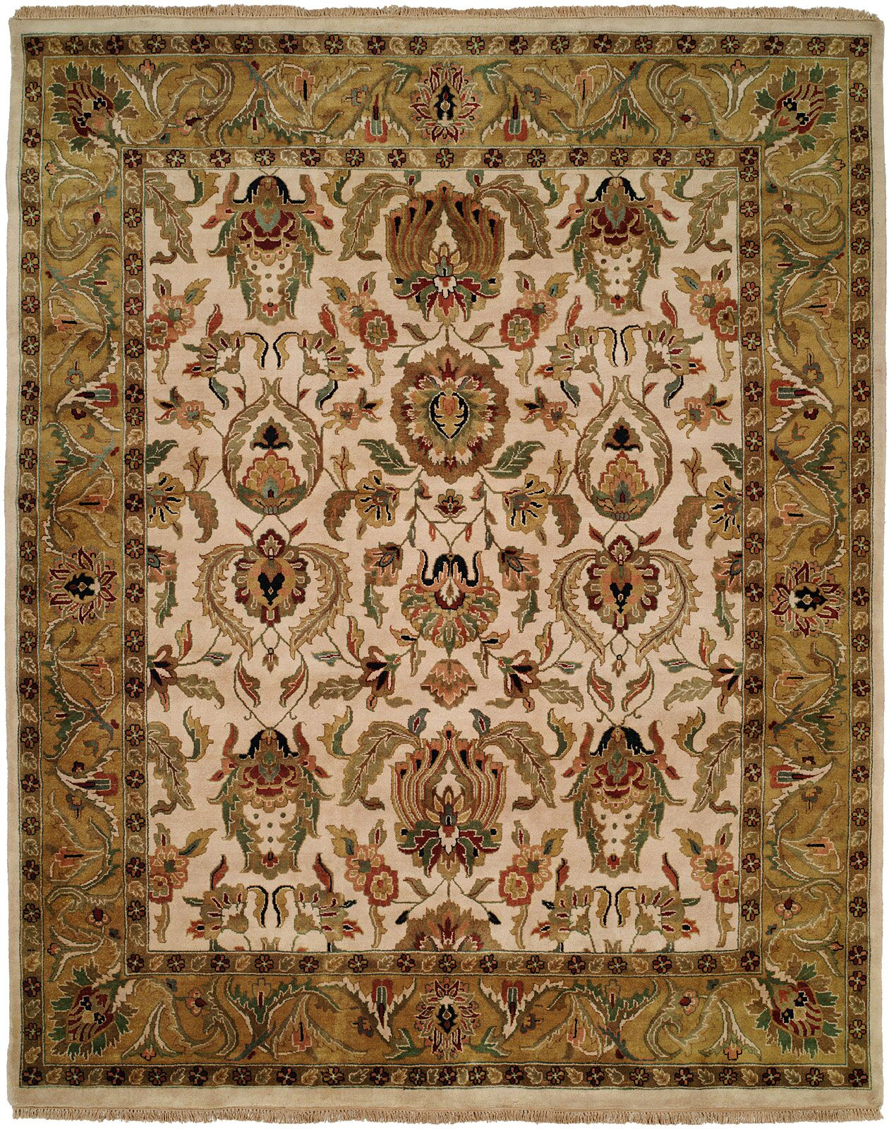 Bail Hand-Woven Gold/Beige Area Rug Rug Size: Rectangle 6' x 9'