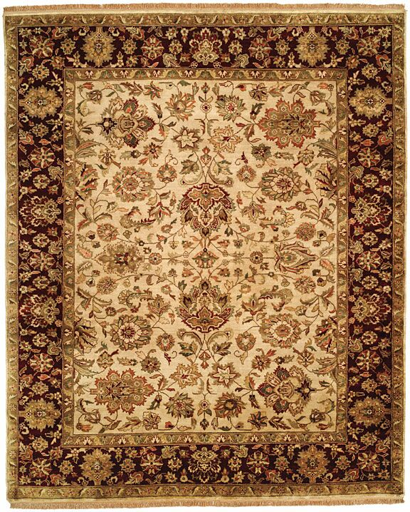 Bajaj Hand-Woven Brown/Beige Area Rug Rug Size: Square 6'