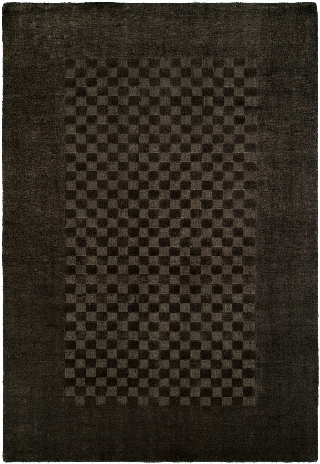 Beharry Hand-Woven Black/Gray Area Rug Rug Size: 3'6
