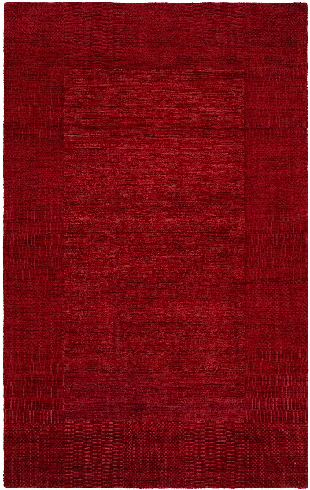Bera Hand-Woven Red Area Rug Rug Size: 6' x 9'