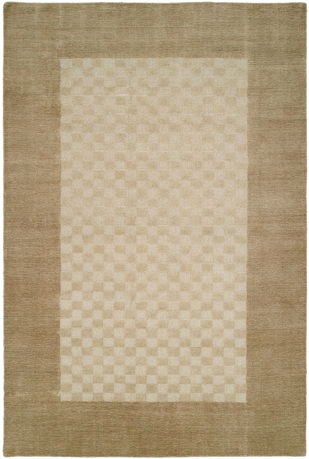 Bhakta Hand-Woven Beige Area Rug Rug Size: 3'6
