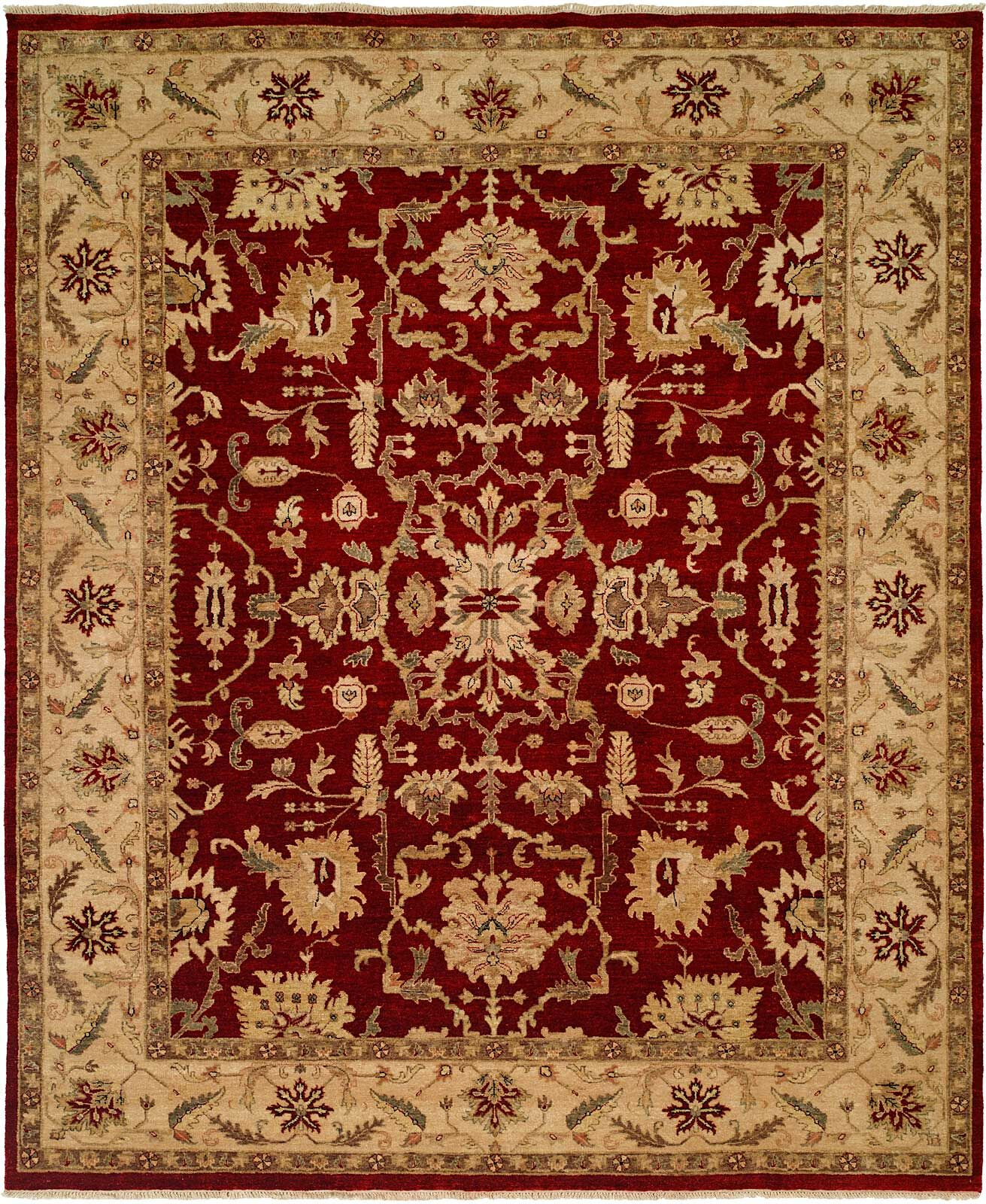 Bhat Hand-Woven Rust Area Rug Rug Size: 4' x 6'