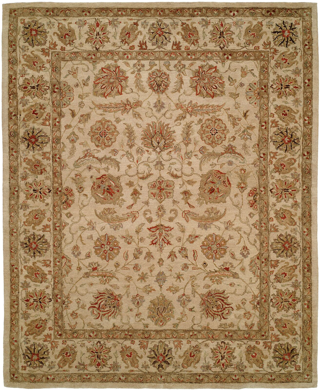Biswas Hand-Woven Beige Area Rug Rug Size: Rectangle 8' x 10'