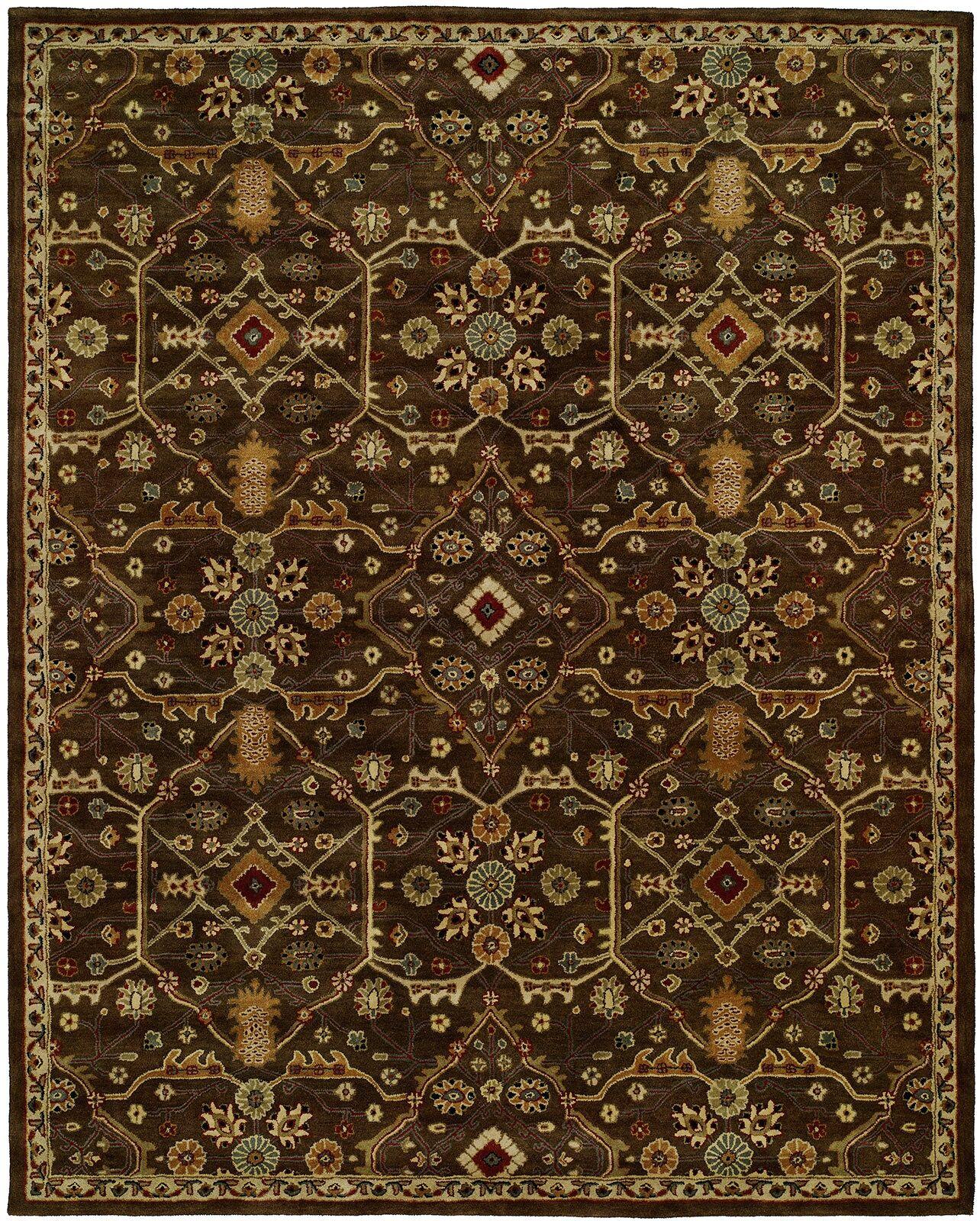 Borah Hand-Woven Brown Area Rug Rug Size: Rectangle 9' x 12'