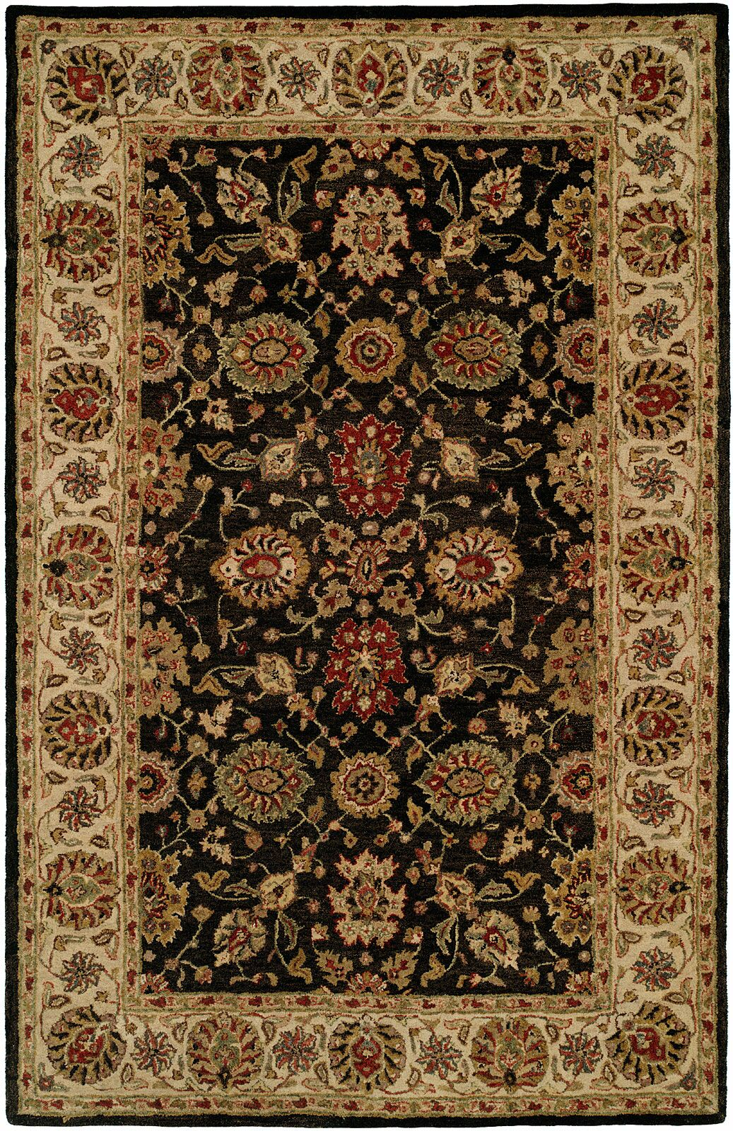 Bumb Hand-Woven Black/Brown Area Rug Rug Size: Rectangle 5' x 8'