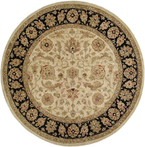 Chad Hand-Woven Brown/Beige Area Rug Rug Size: Round 8'