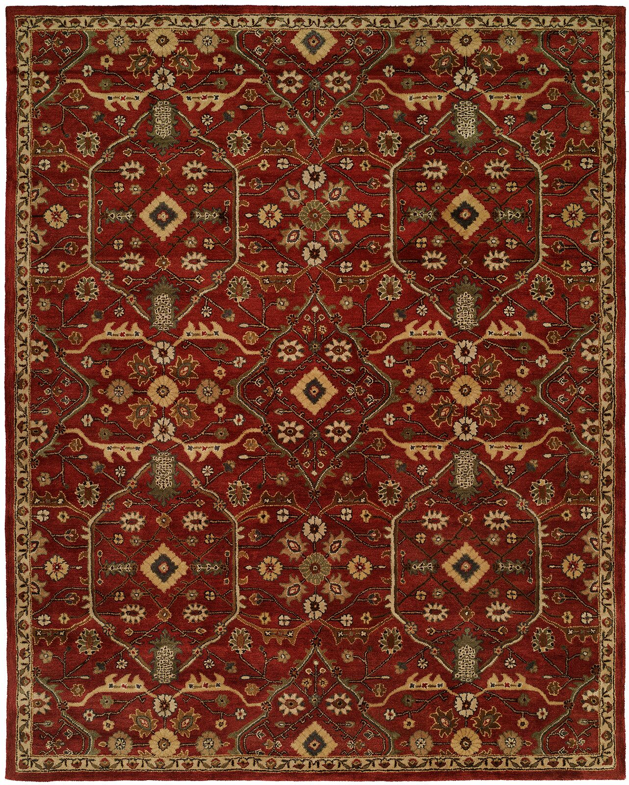 Hand-Woven Red Area Rug Rug Size: Round 4'