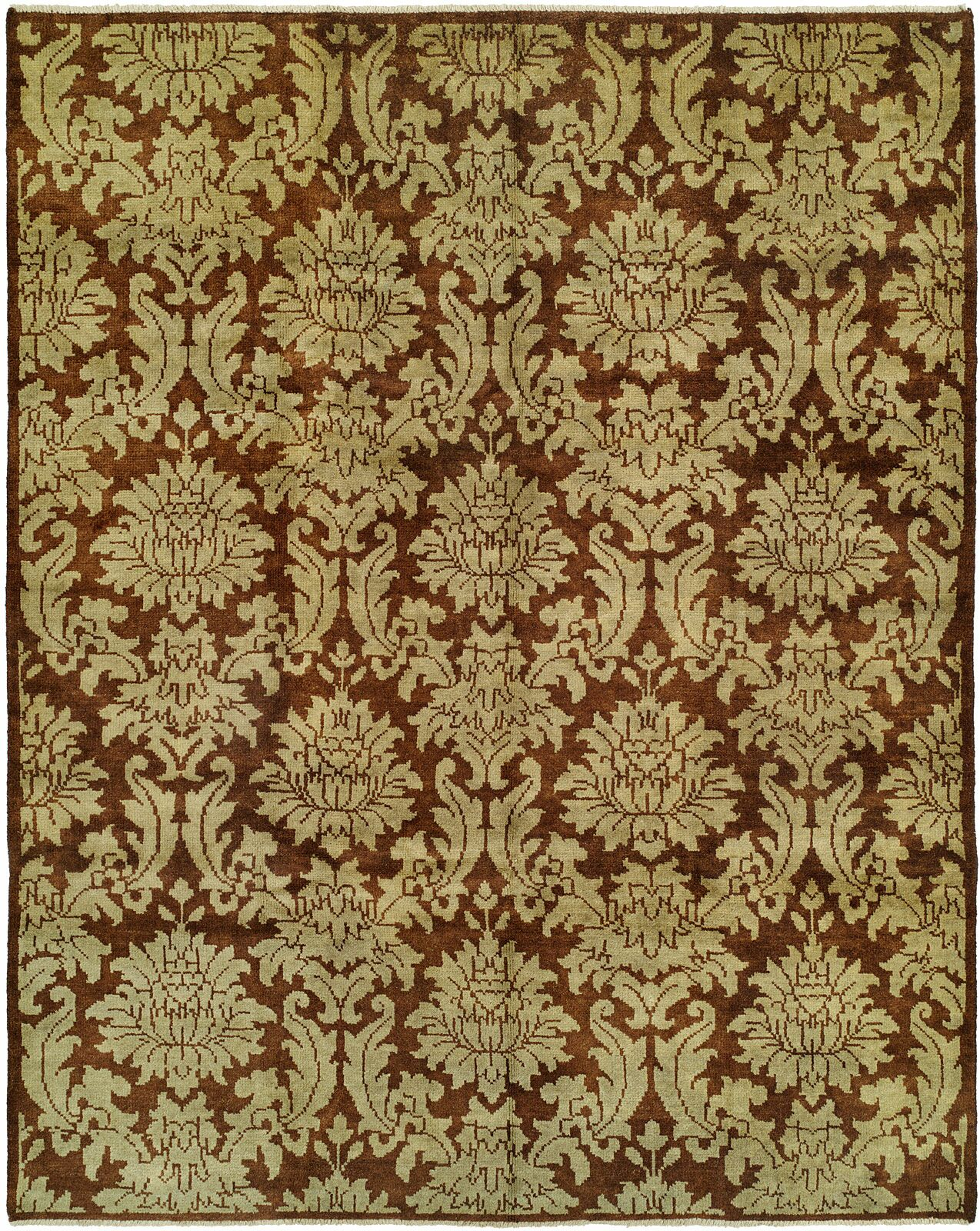 Chand Hand-Knotted Brown Area Rug Rug Size: 4' x 6'