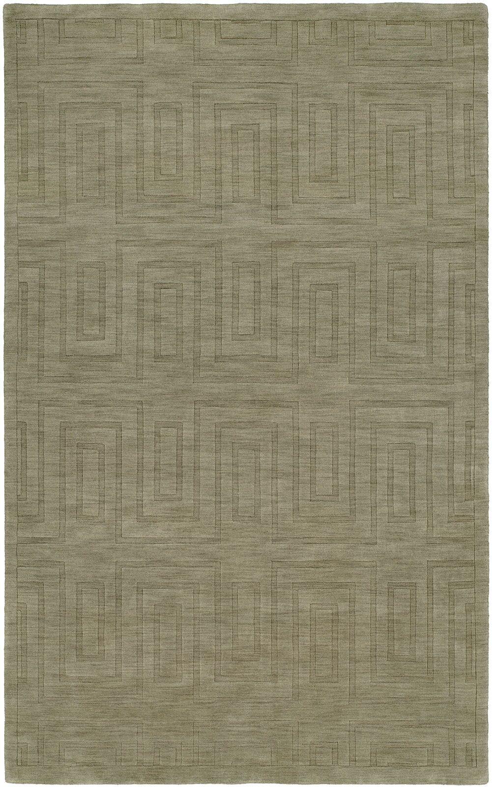 Chanda Hand-Woven Gray Area Rug Rug Size: 5' x 8'