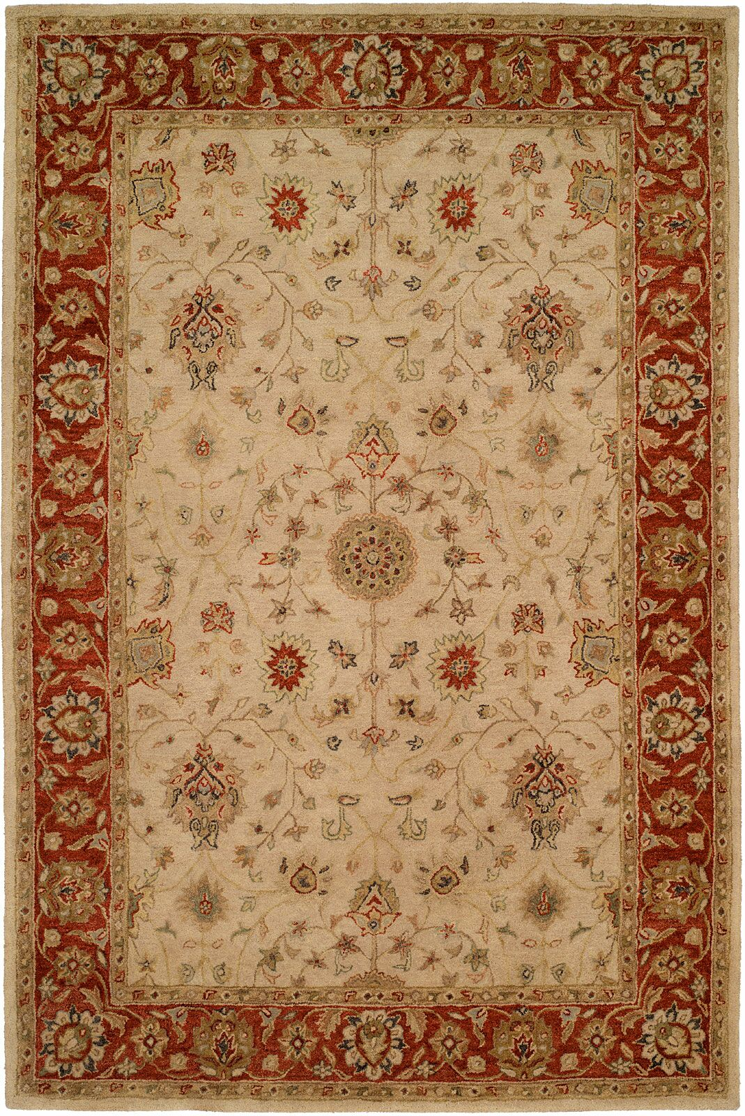 Chaudhari Hand-Woven Beige Area Rug Rug Size: Rectangle 5' x 8'