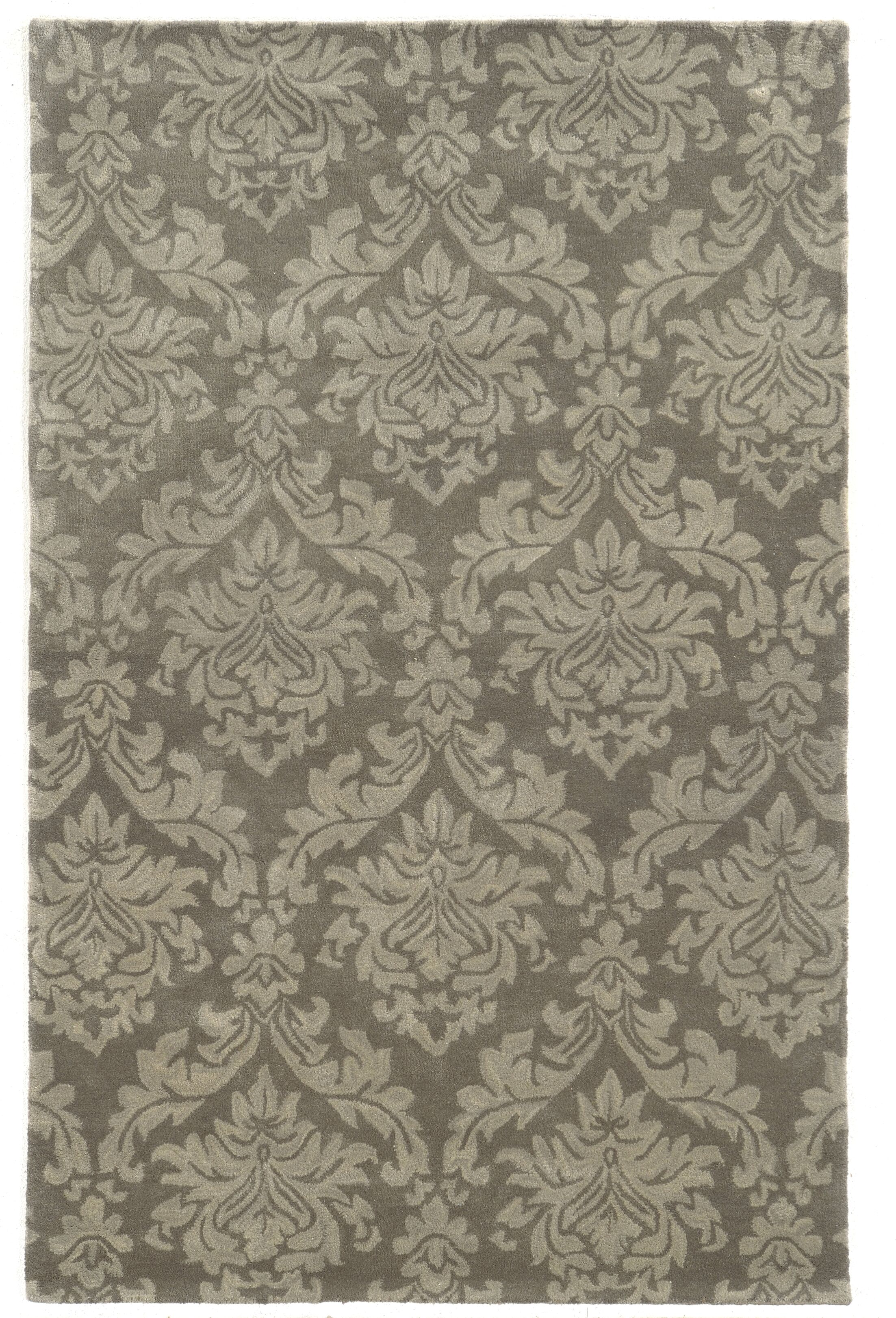 Malo Hand-Tufted Grey Area Rug Rug Size: Rectangle 5' x 8'