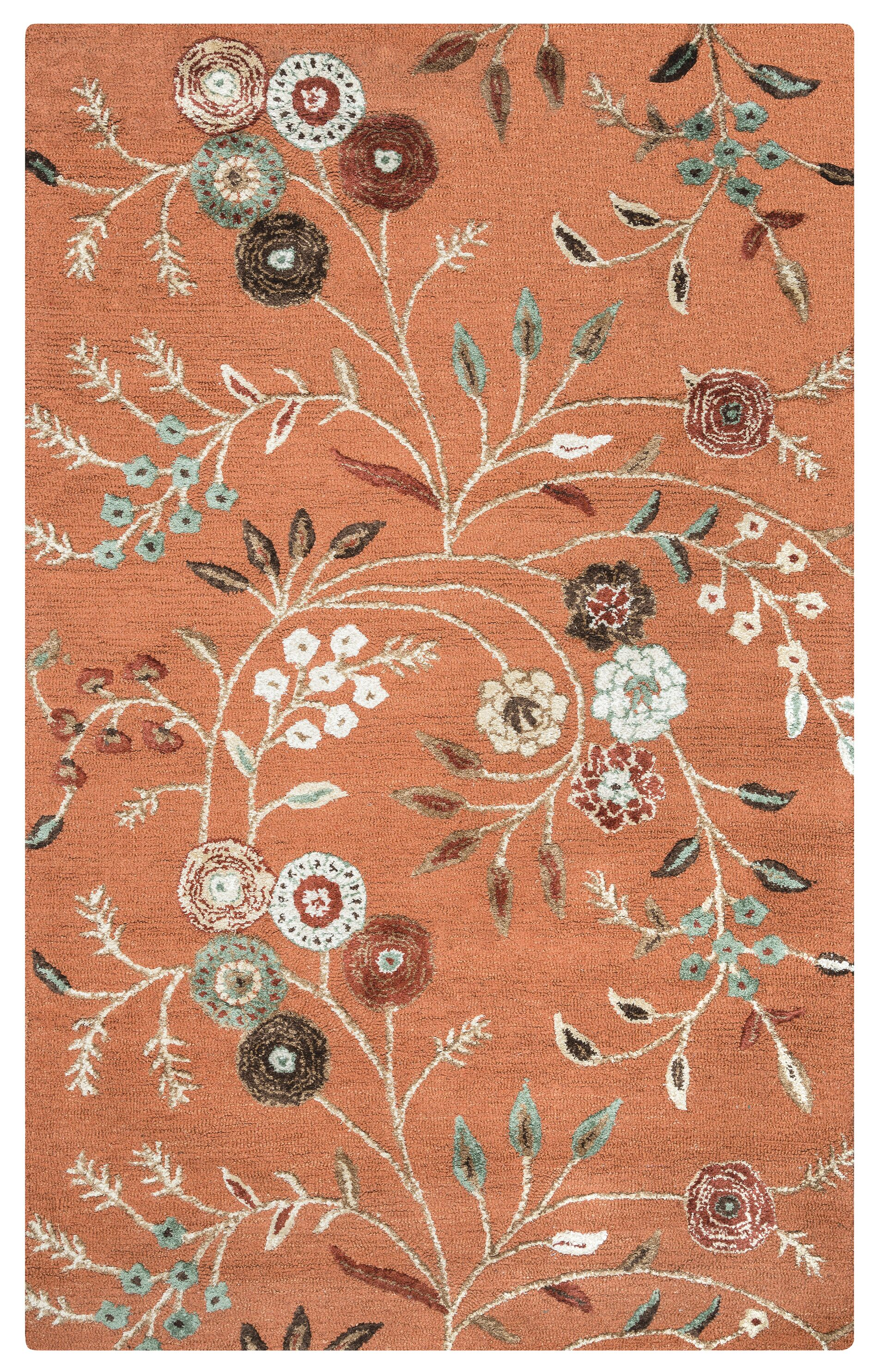 Romania Hand-Tufted Rust Area Rug Rug Size: Runner 2'6
