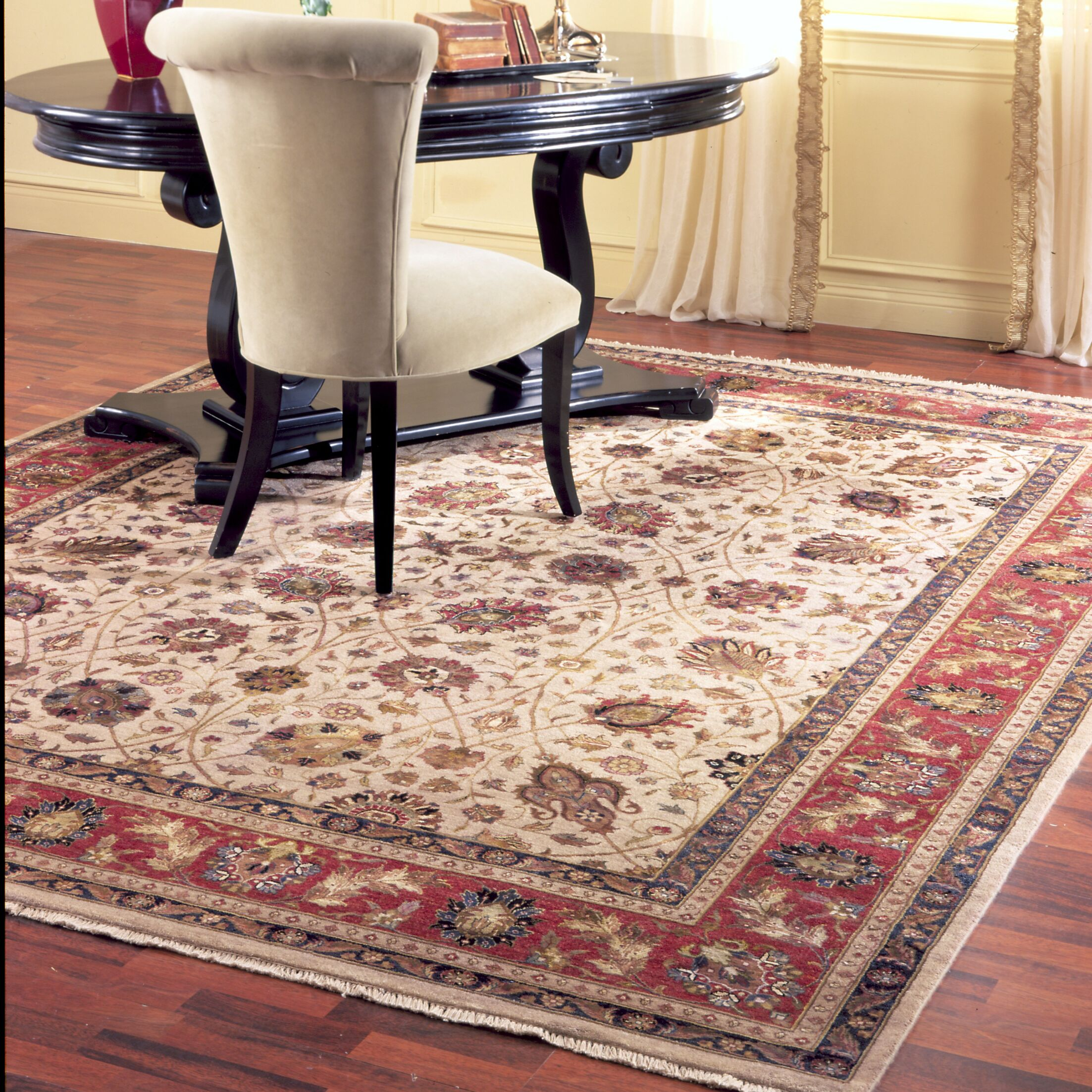 Ahuja Hand-Woven Red/Beige Area Rug Rug Size: Runner 2'6