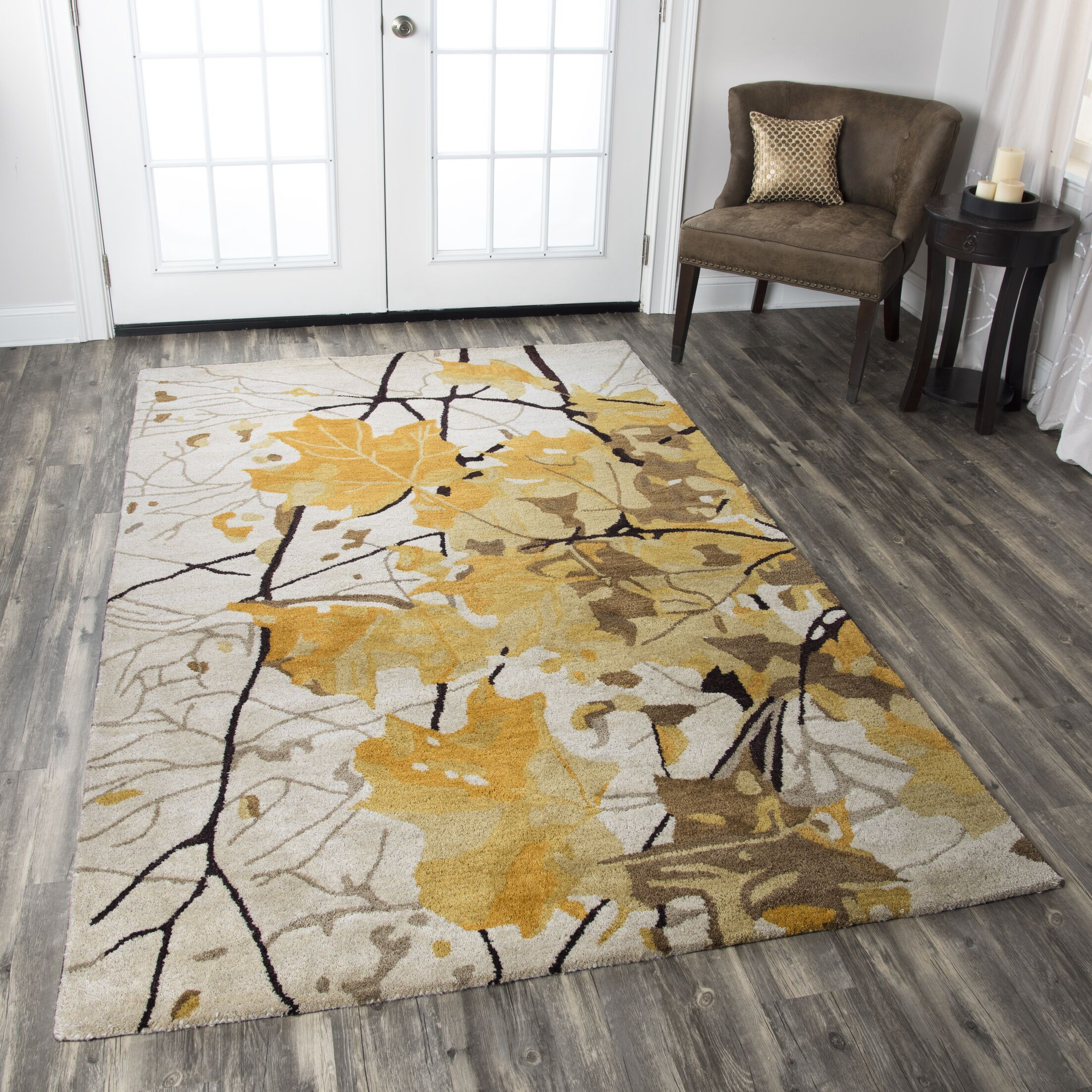 Bremen Hand-Tufted Beige/Yellow Area Rug Rug Size: Rectangle 5' x 8'