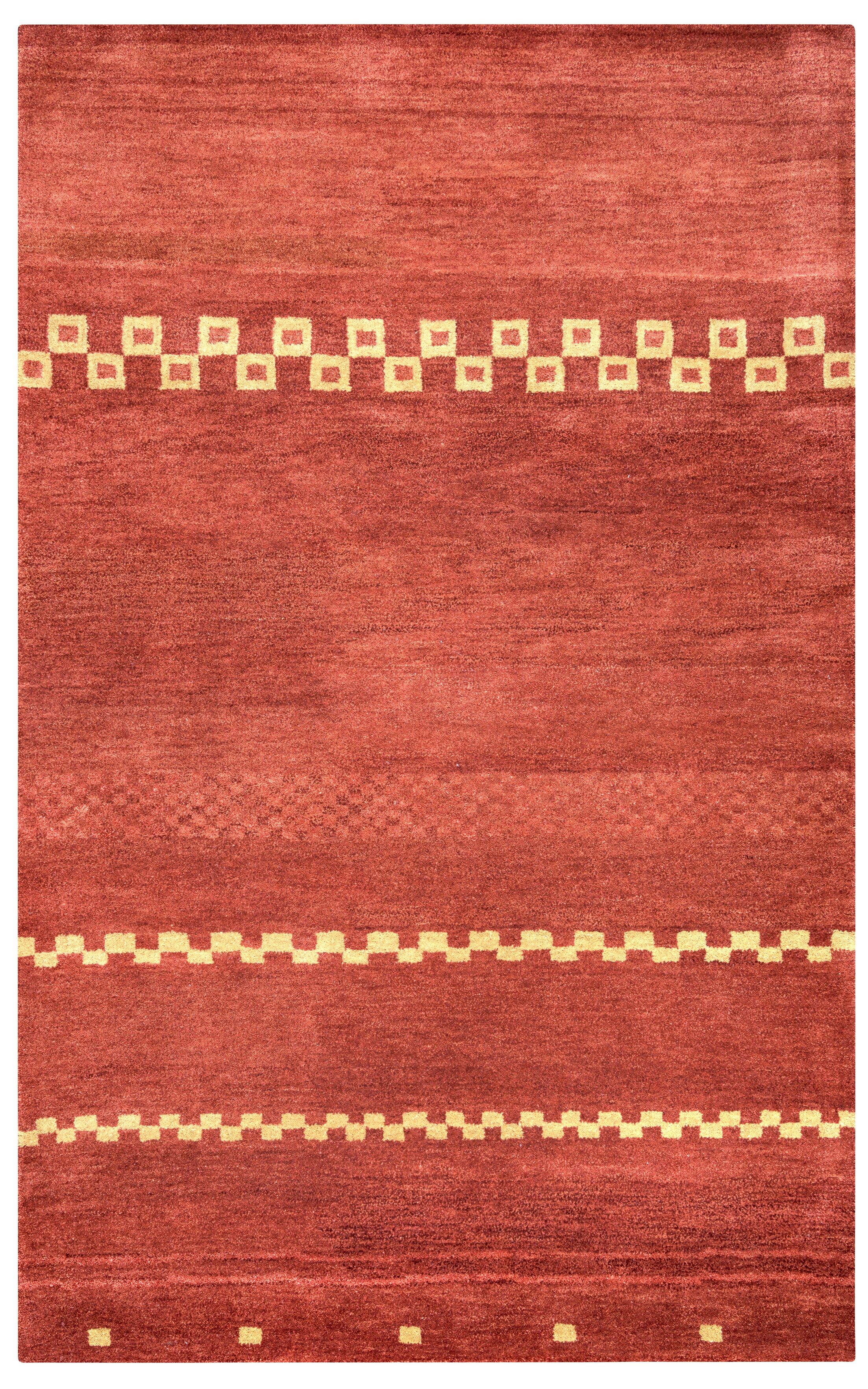 Congo Hand-Tufted Red Area Rug Rug Size: Runner 2'6