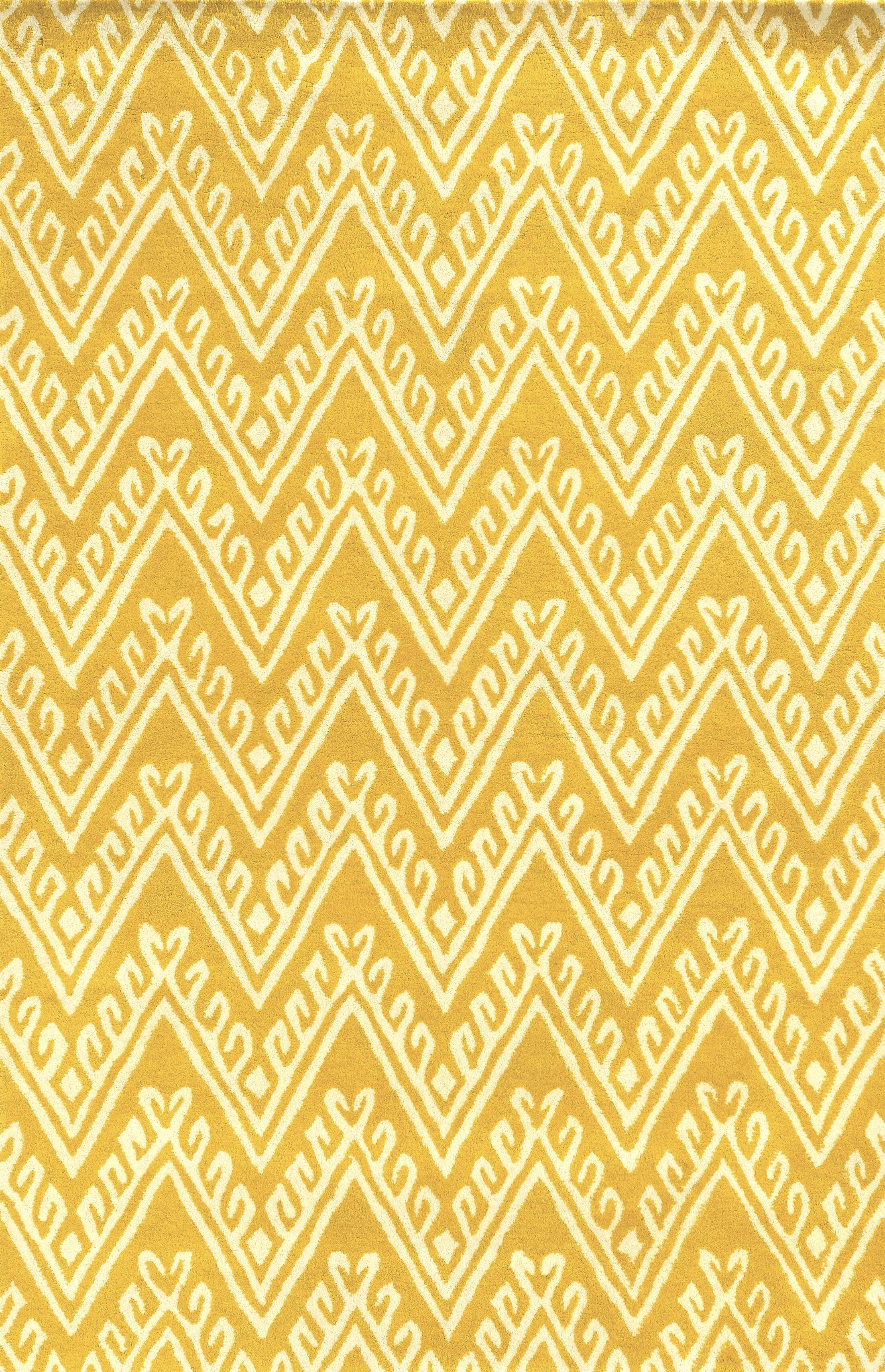 Santo Hand-Tufted Yellow Area Rug Rug Size: Rectangle 8' x 10'