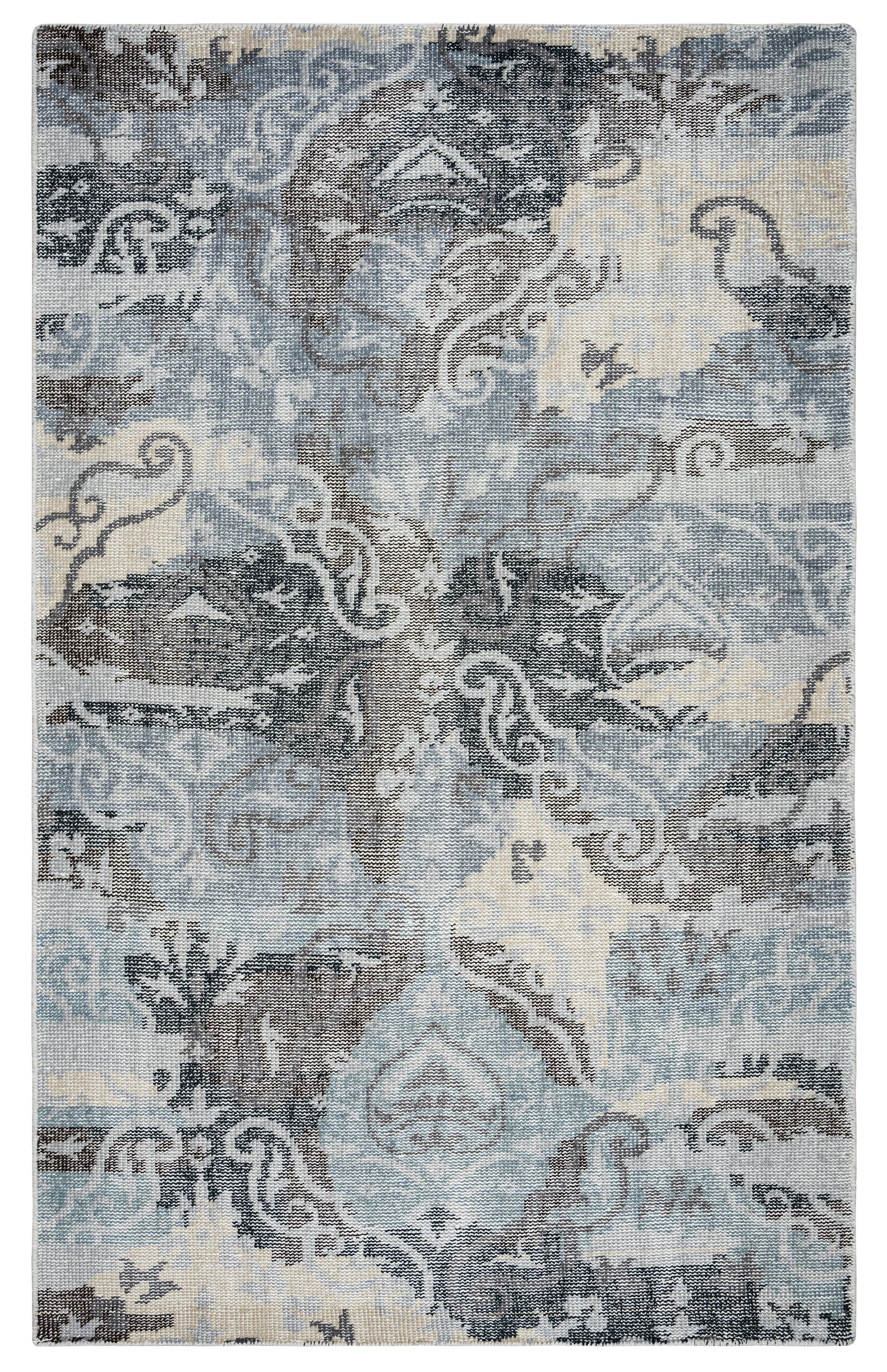 Quebec Hand-Knotted Charcoal Area Rug Rug Size: Rectangle 9' x 12'