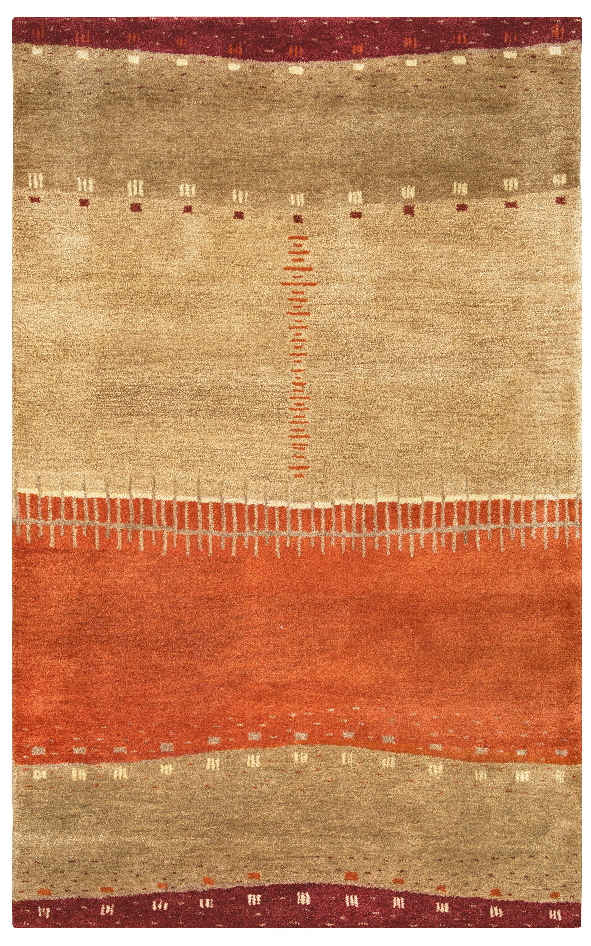 Blanca Hand-Tufted Brown Area Rug Rug Size: Rectangle 5' x 8'