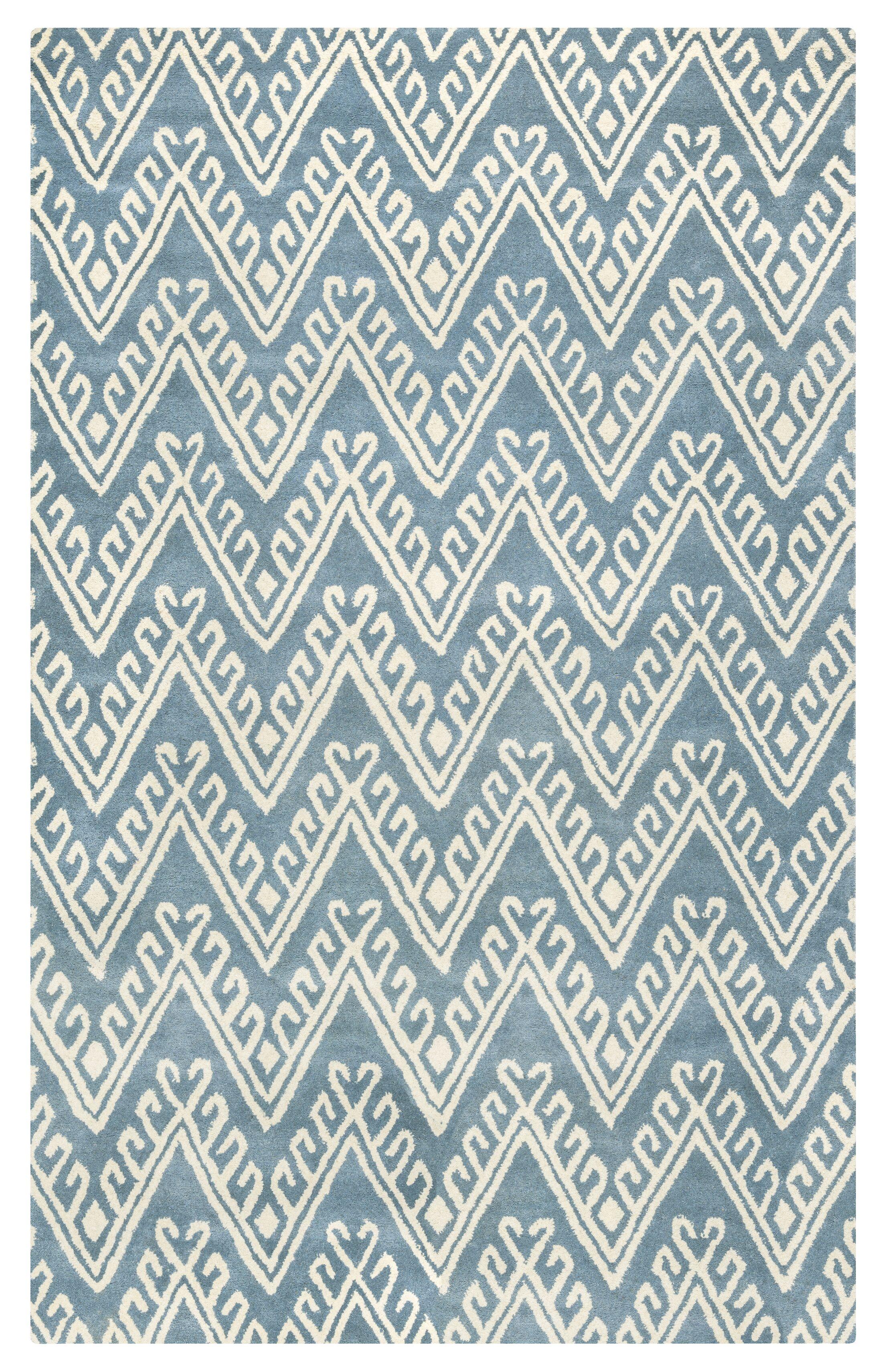 Santander Hand-Tufted Grey/Beige Area Rug Rug Size: Runner 2'6
