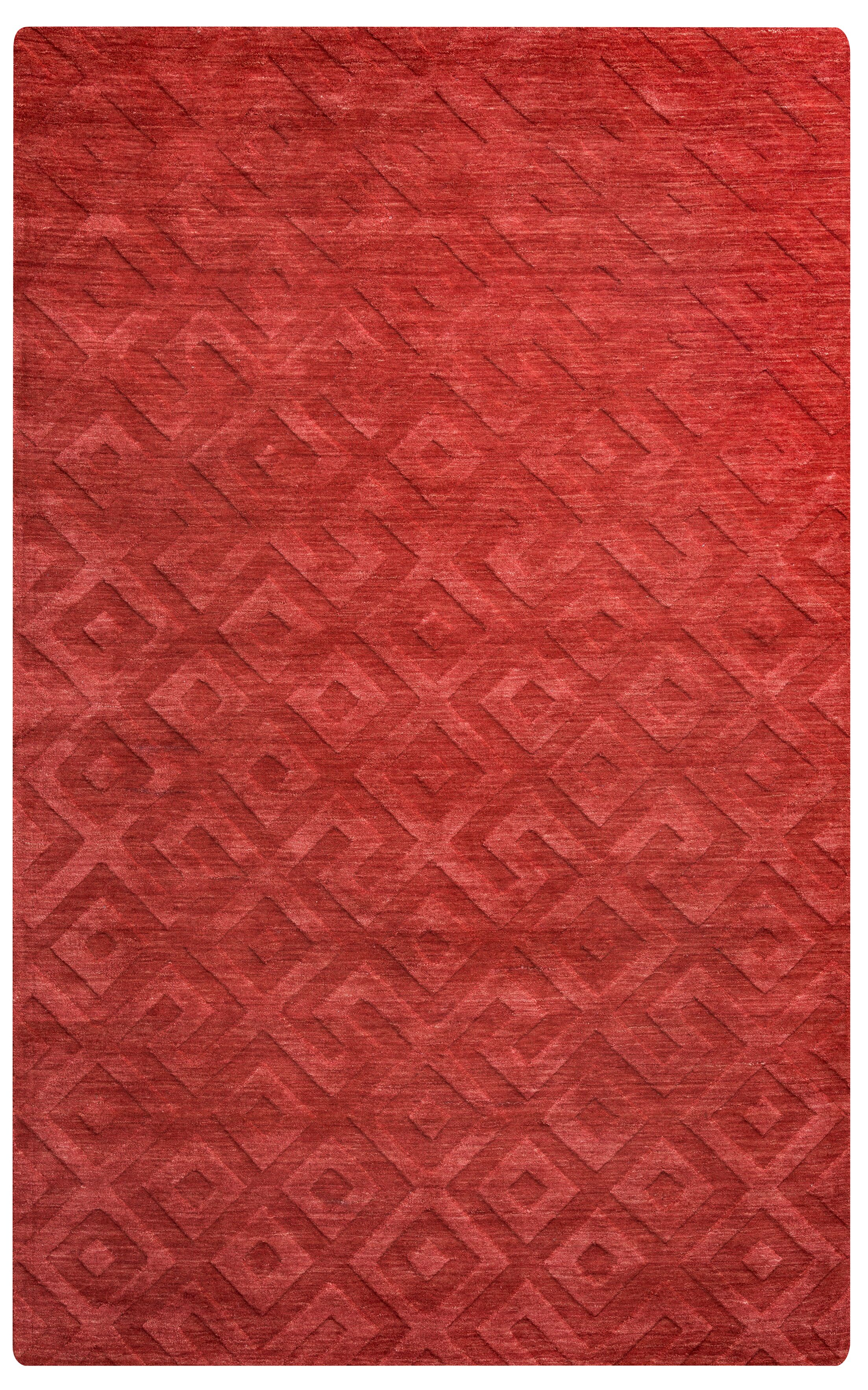 Heraklion Hand-Loomed Red Area Rug Rug Size: Rectangle 3' x 5'