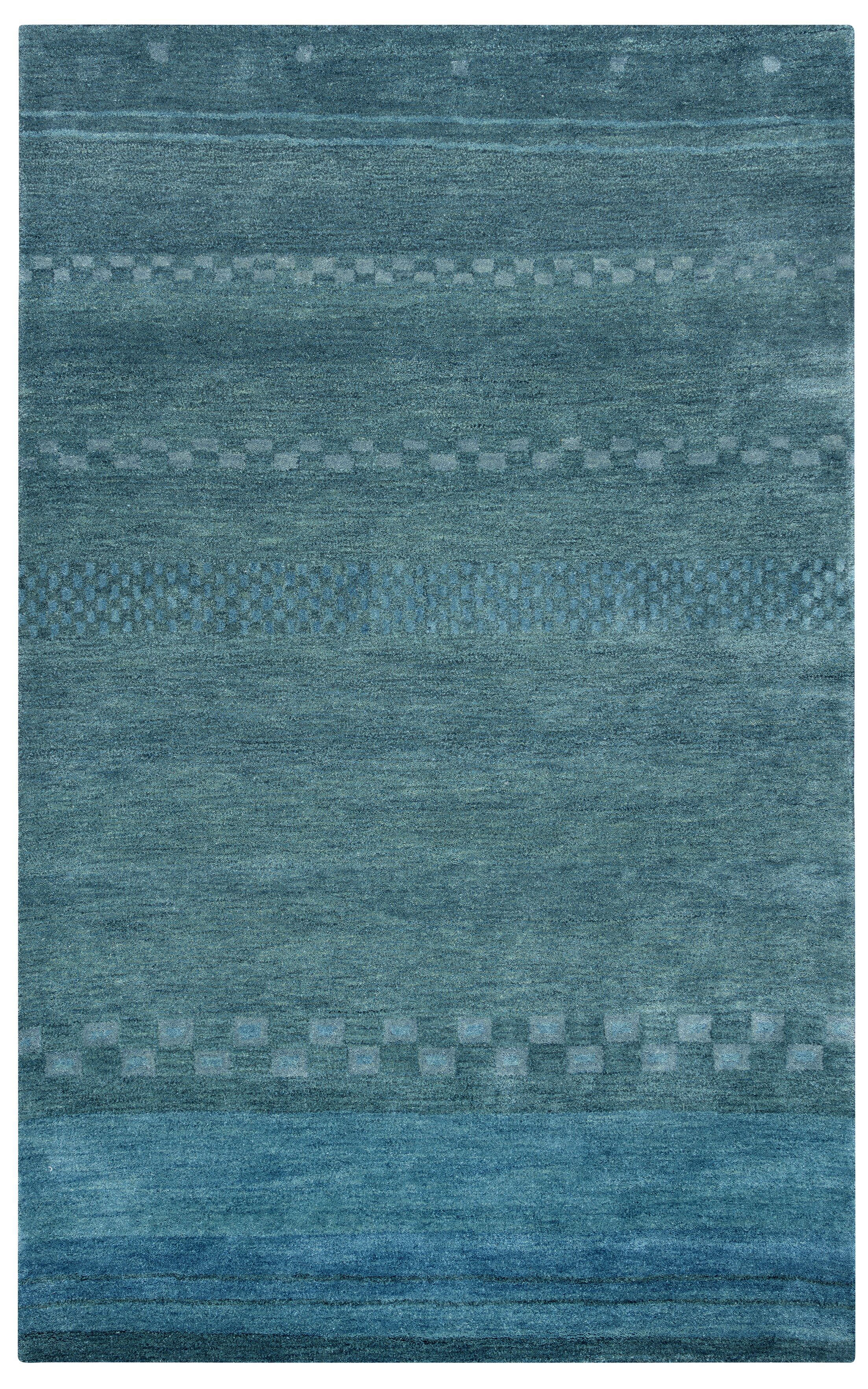 Barranquilla Hand-Tufted Blue Area Rug Rug Size: Rectangle 8' x 10'