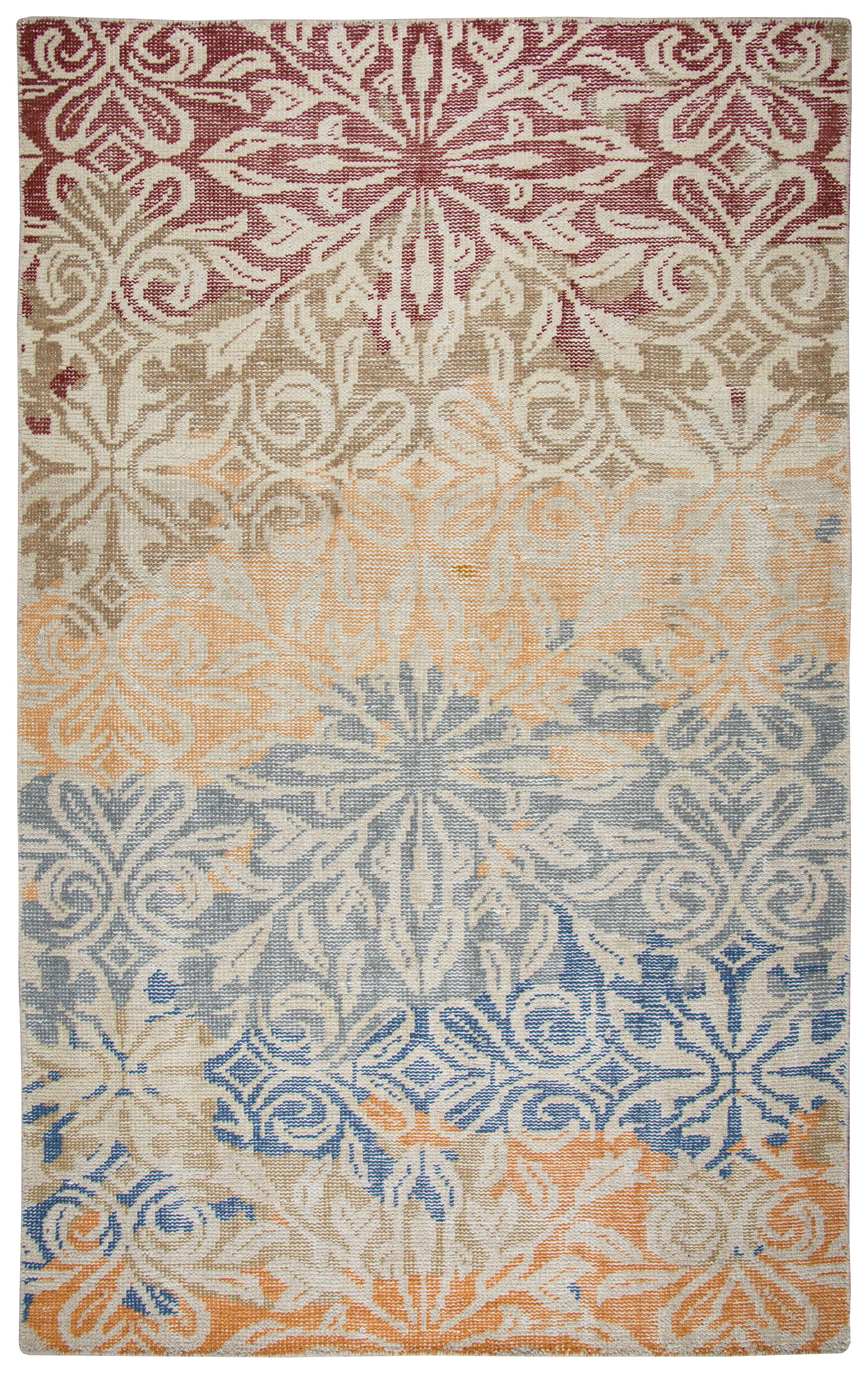 Dublin Hand-Knotted Area Rug Rug Size: Rectangle 8' x 10'