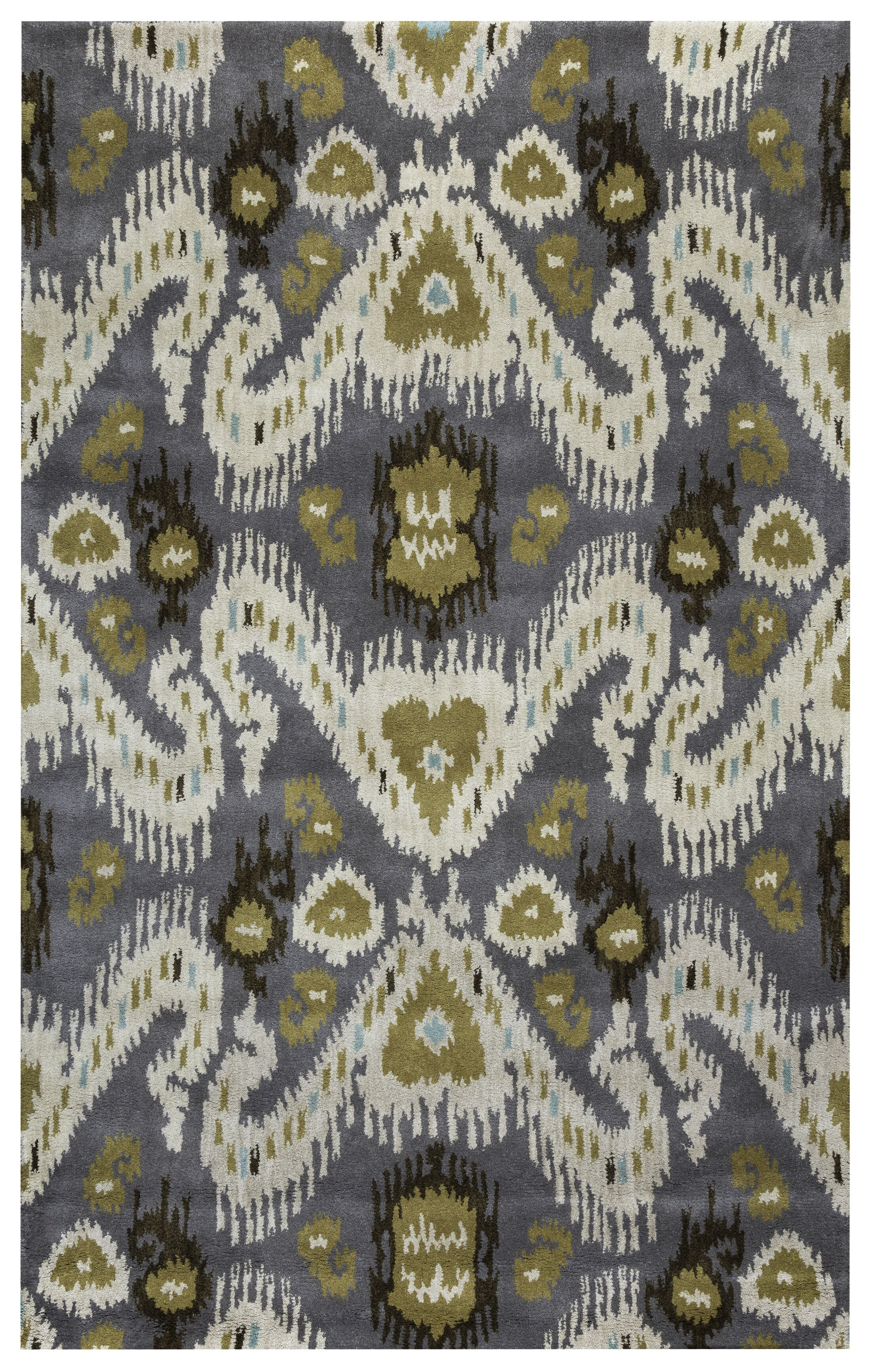 Thessaloniki Hand-Tufted Gray/Beige Area Rug Rug Size: Runner 2'6