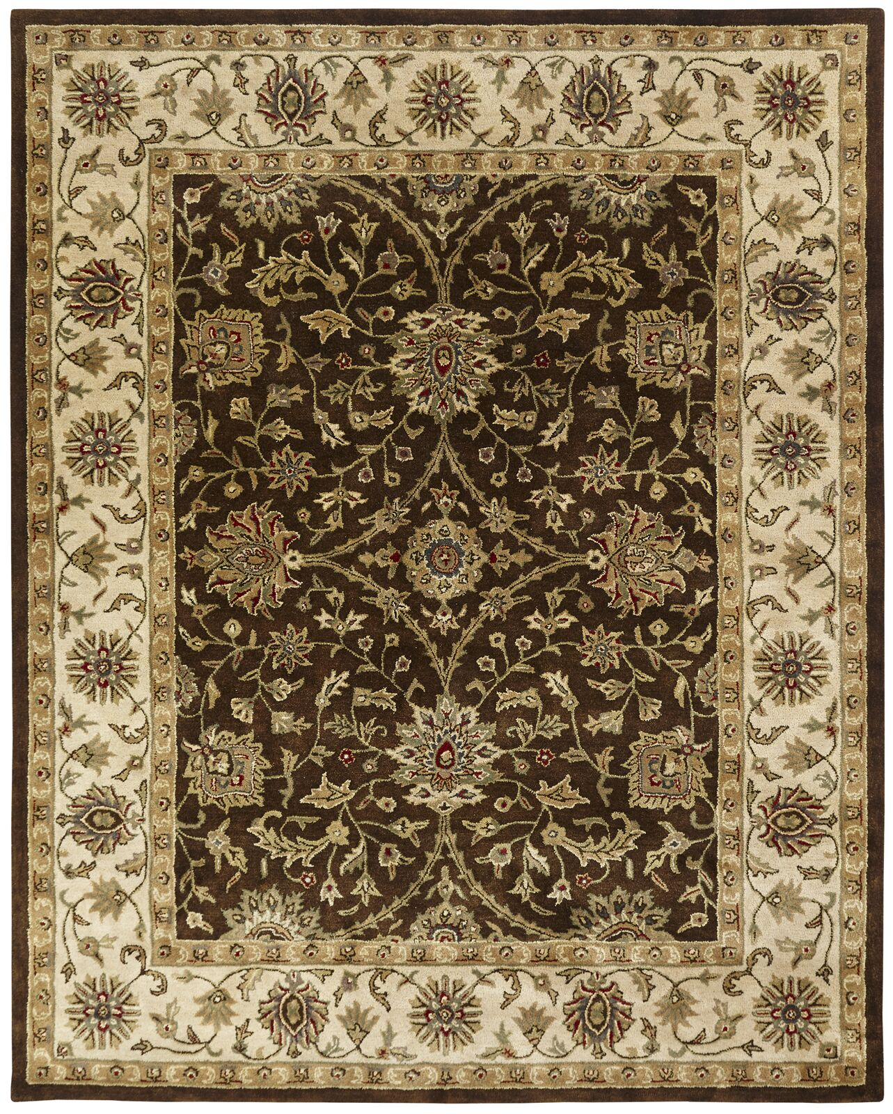 Bhavsar Hand-Woven Brown Area Rug Rug Size: Rectangle 9' x 12'