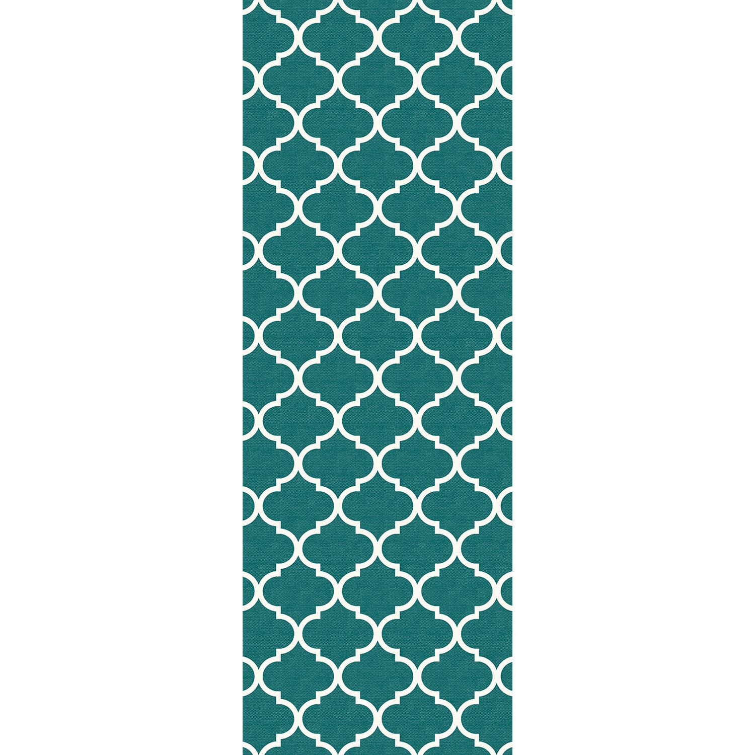 Teal Indoor/Outdoor Accent Rug Rug Size: Runner 2'6