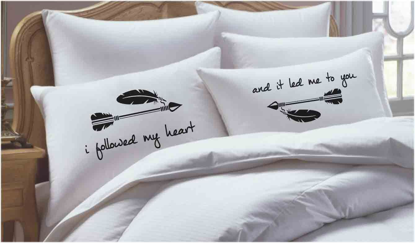 2 Piece I Followed My Heart and It Led Me to You Pillowcase Set