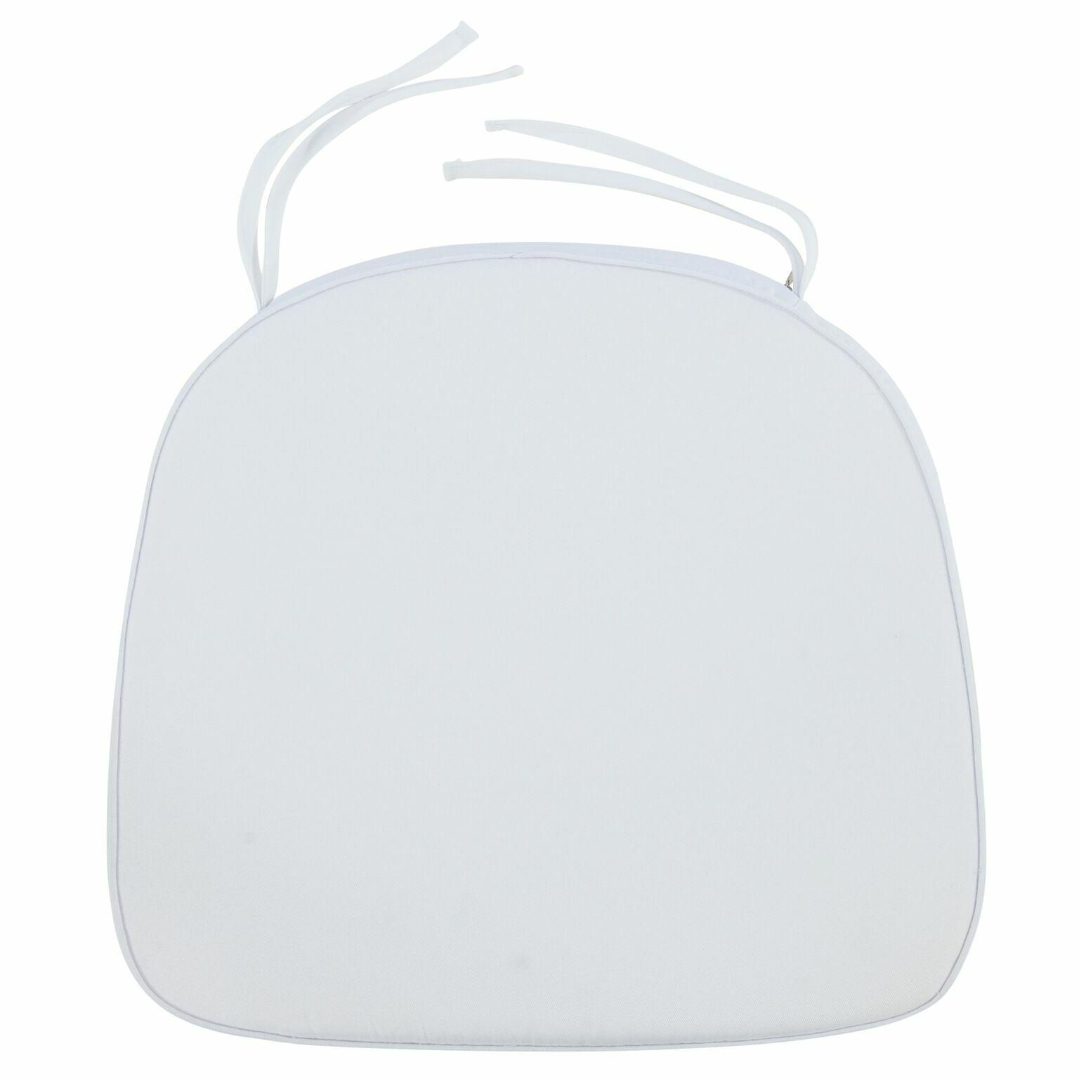 Dining Chair Cushion Fabric: White