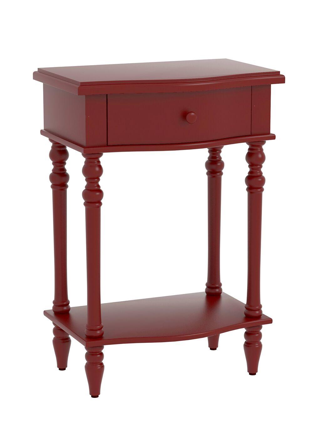 Claiborne Accent End Table Color: Red