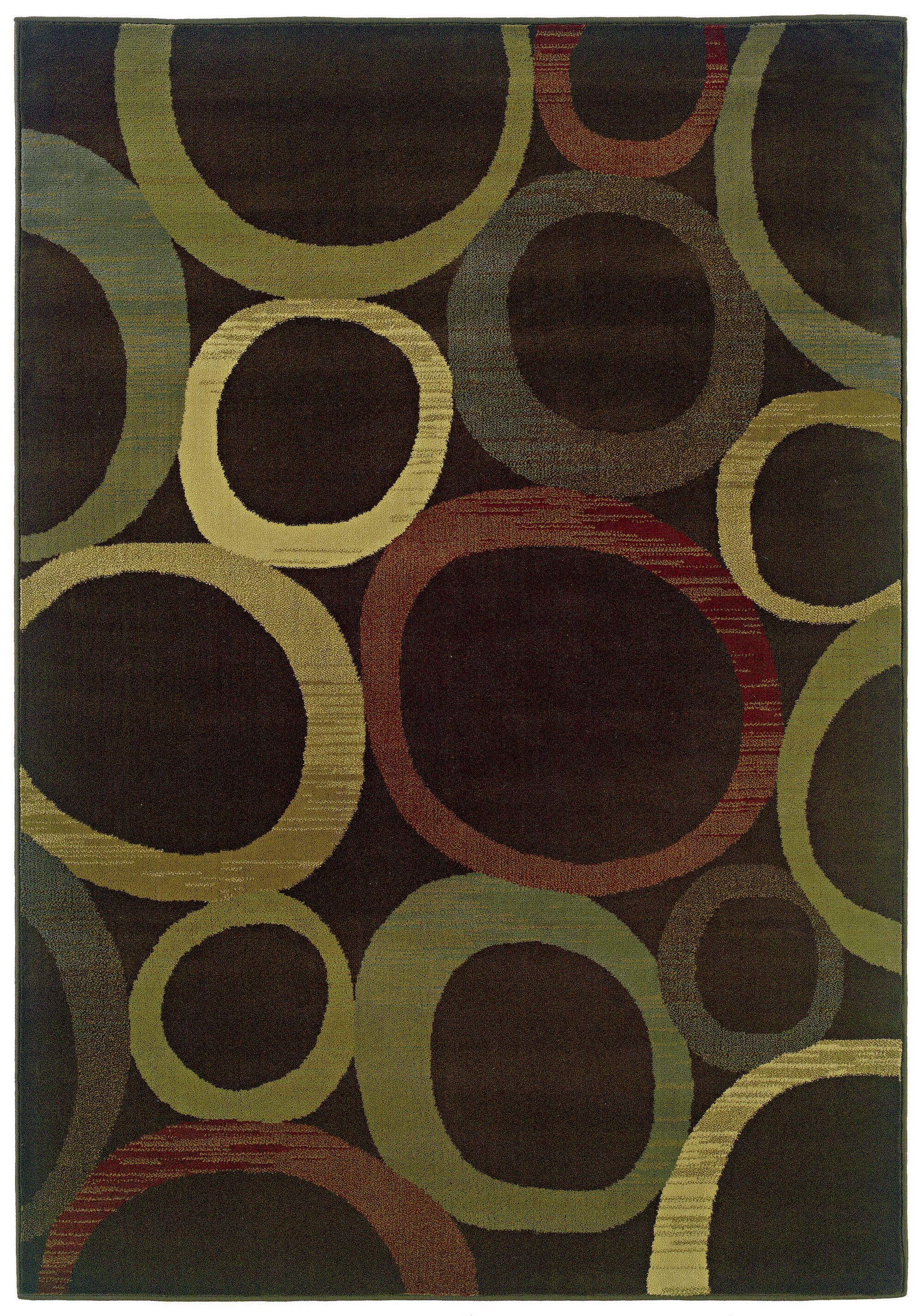 Midland Brown/Beige Area Rug Rug Size: Rectangle 3'2