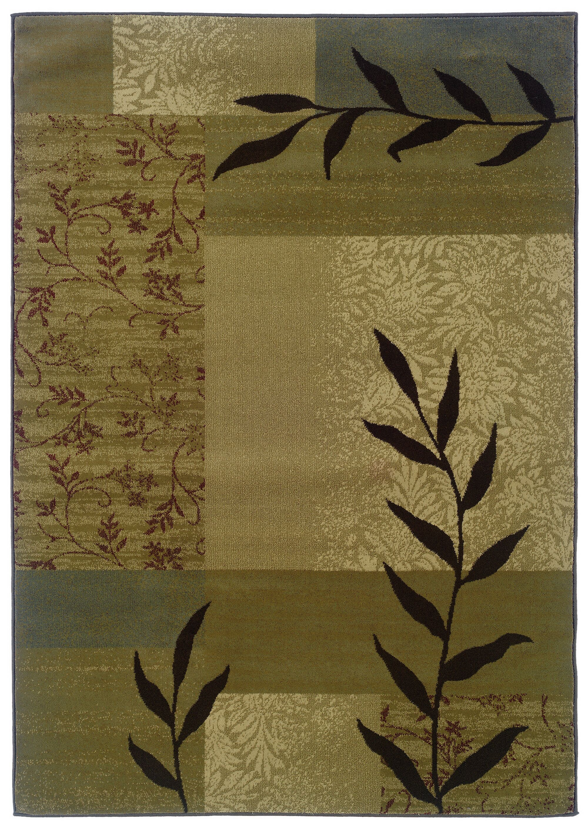 Midland Brown/Beige Area Rug Rug Size: Rectangle 5' x 7'6