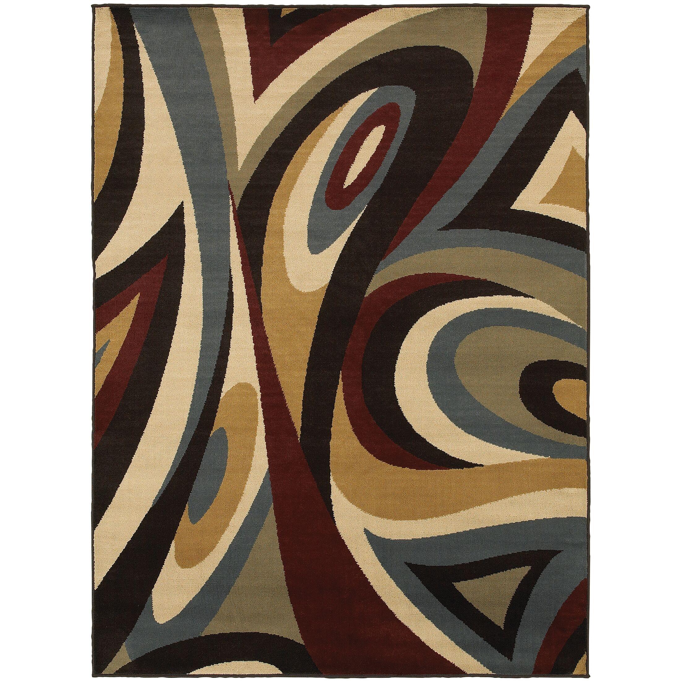 Sheridan Brown/Multi Area Rug Rug Size: Rectangle 5'3