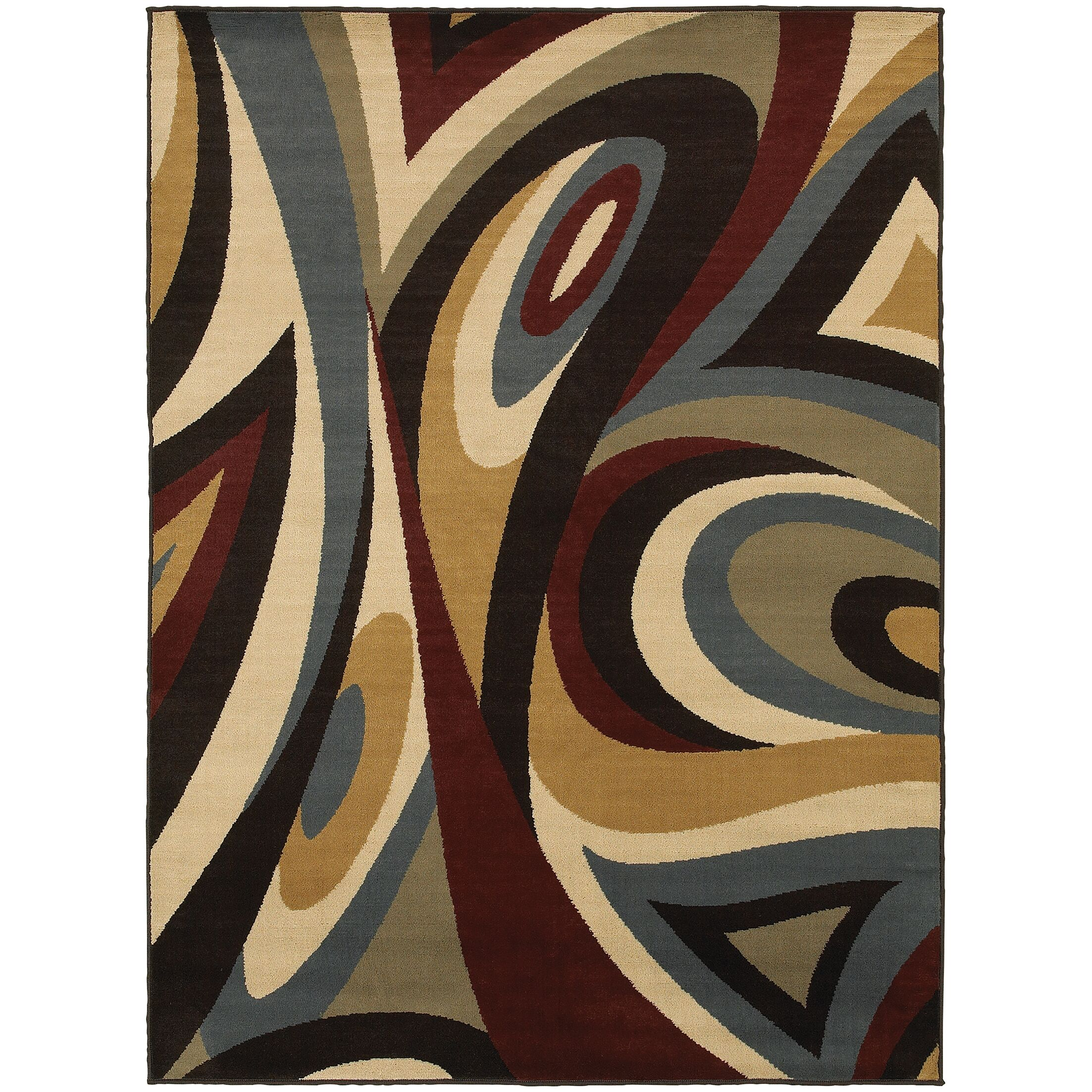 Sheridan Brown/Multi Area Rug Rug Size: Rectangle 6'7