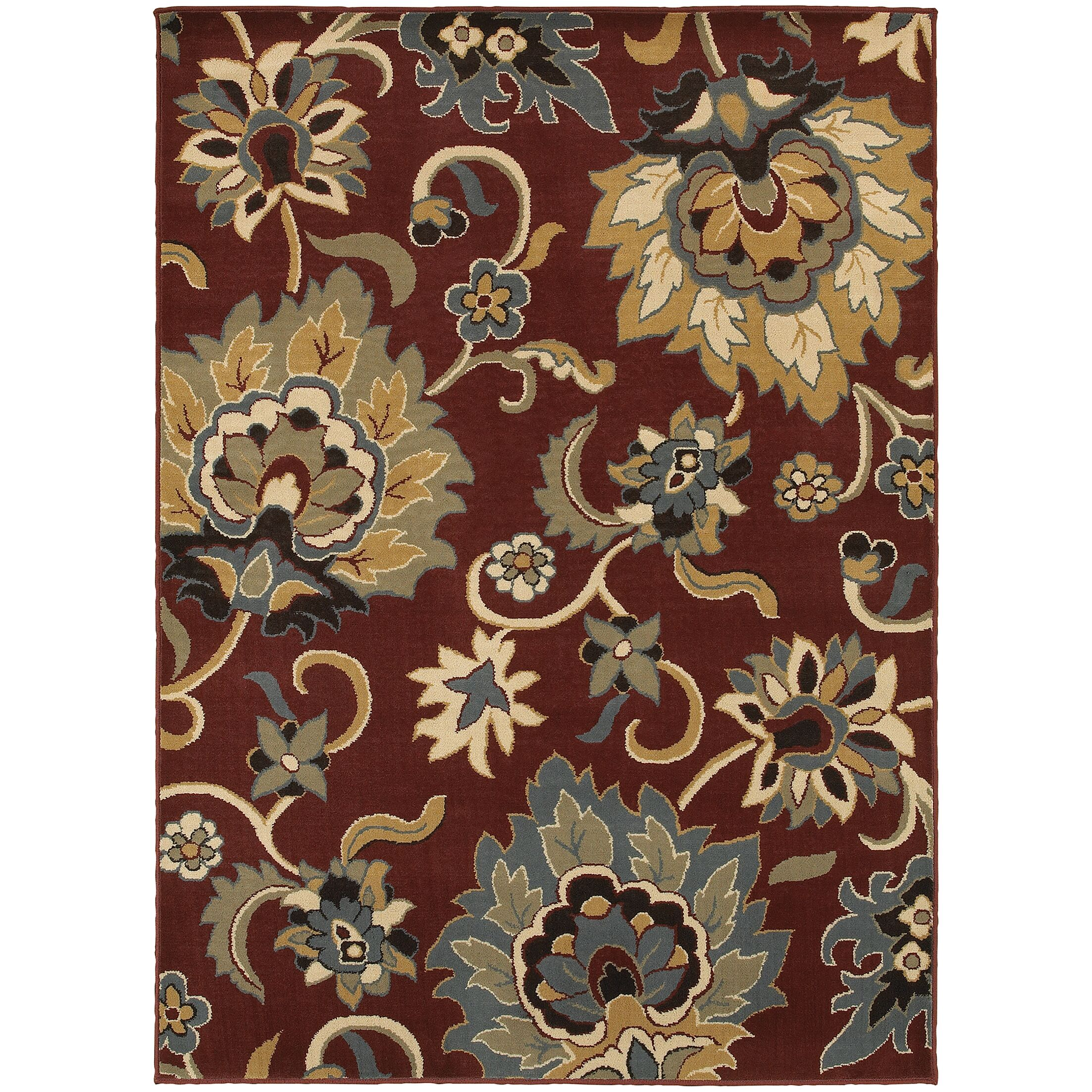 Bretton Red/Gold Area Rug Rug Size: Rectangle 5'3