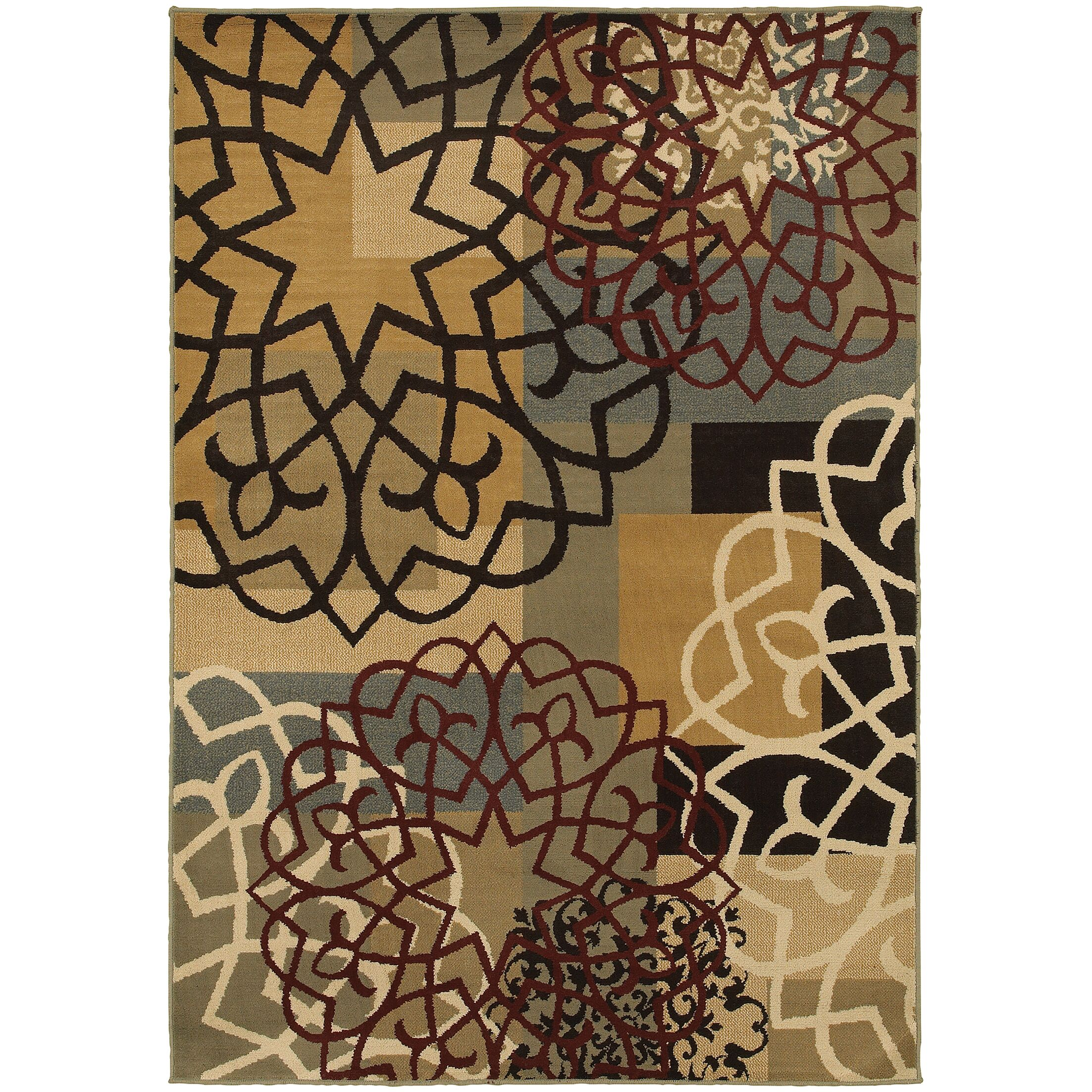Sheridan Multi/Gold Area Rug Rug Size: Rectangle 7'10