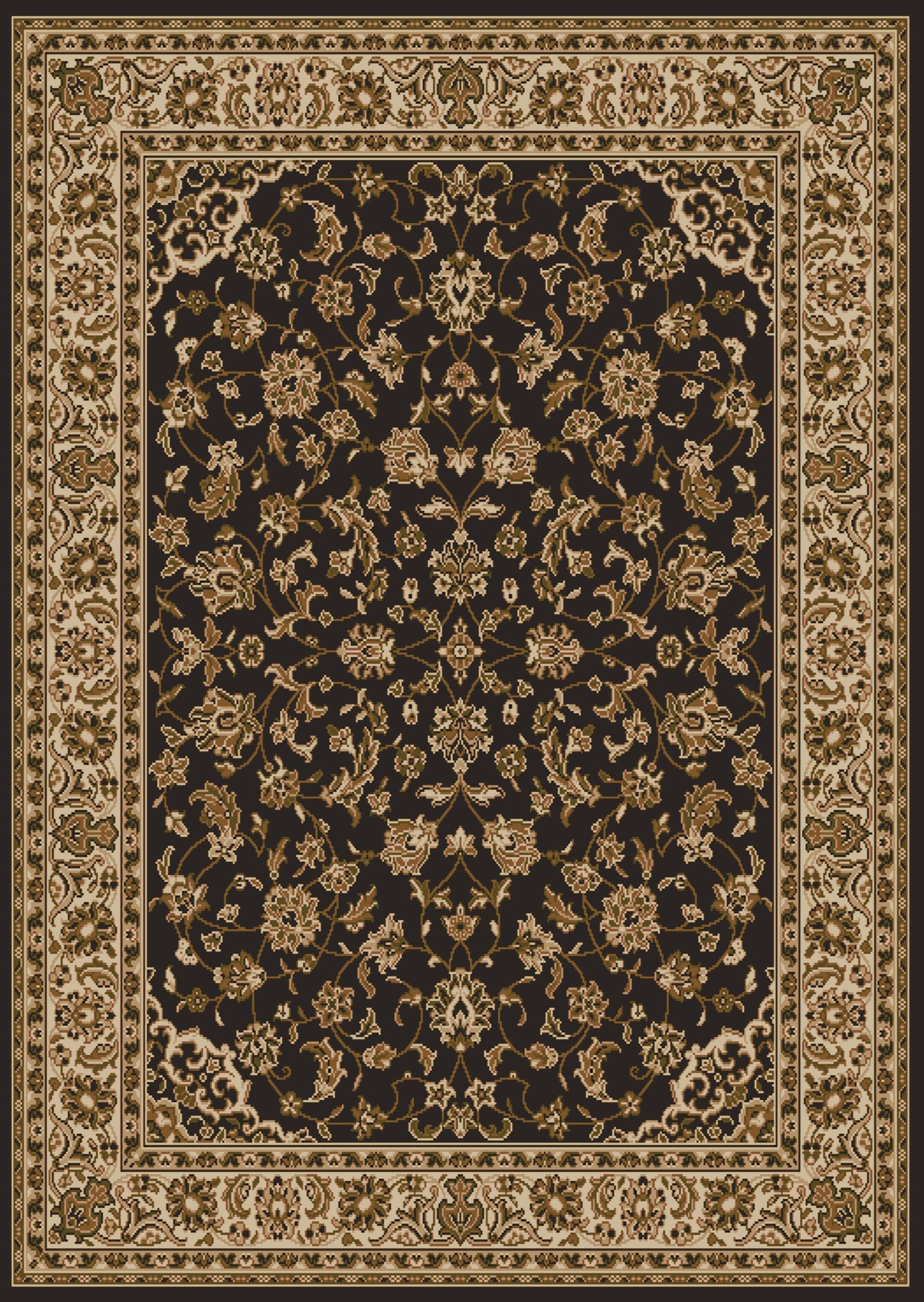 Weisgerber Brown Area Rug Rug Size: 5'5
