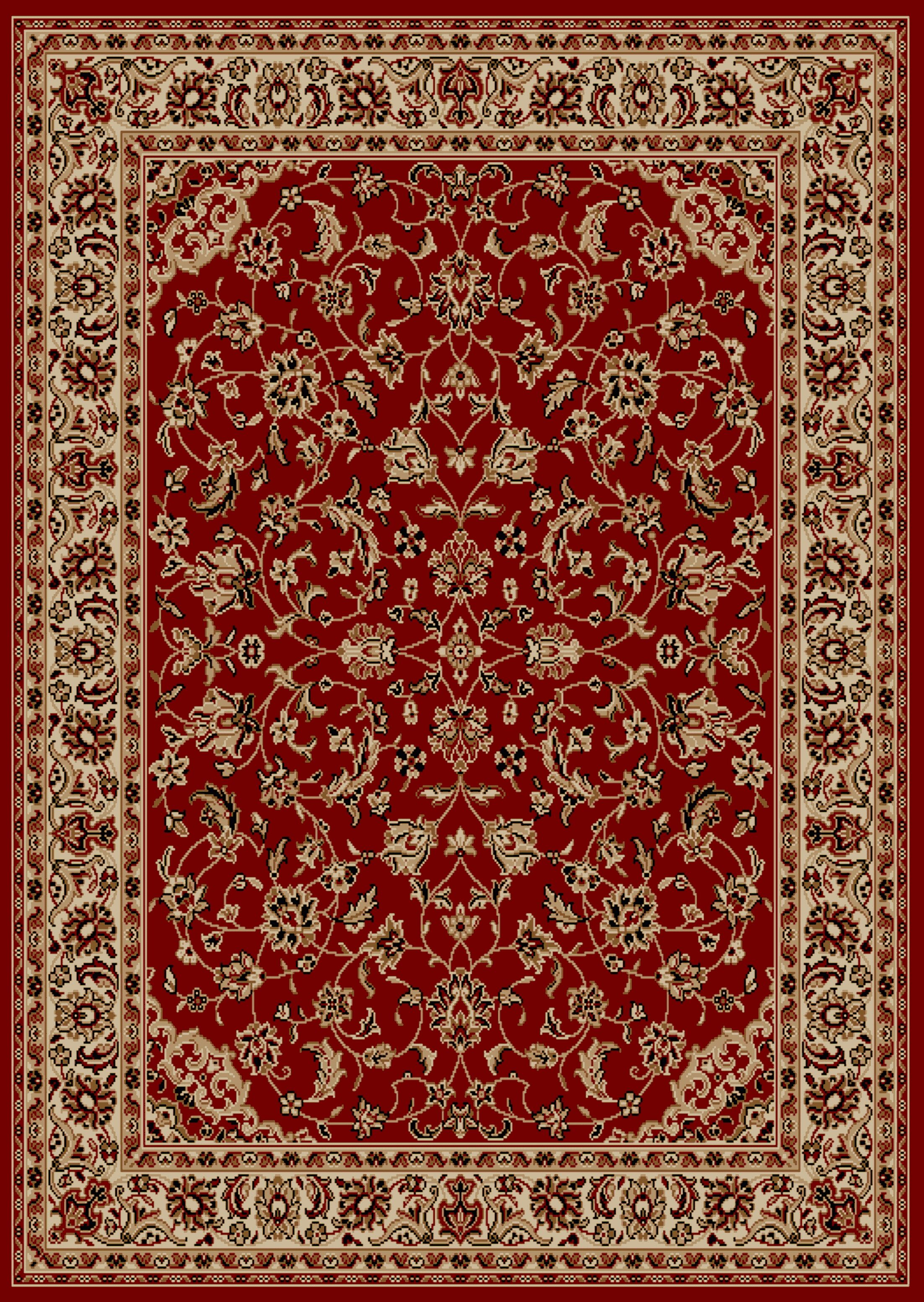 Weisgerber Red Area Rug Rug Size: 7'9