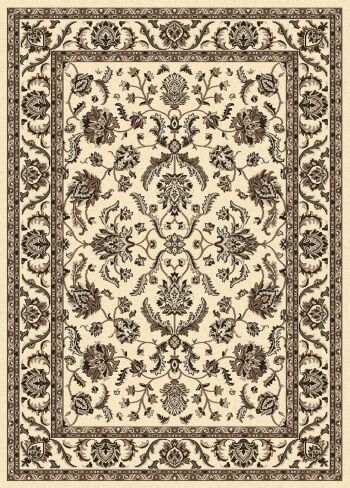 Weiser Traditional Ivory Area Rug Rug Size: 5'5